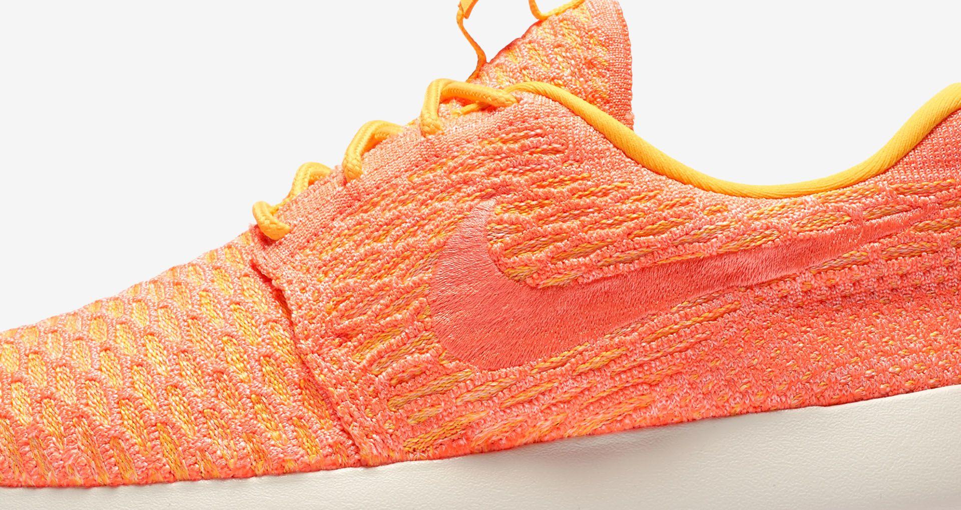 best loved af1a5 e0738 Women s Nike Roshe One Flyknit  Laser Orange