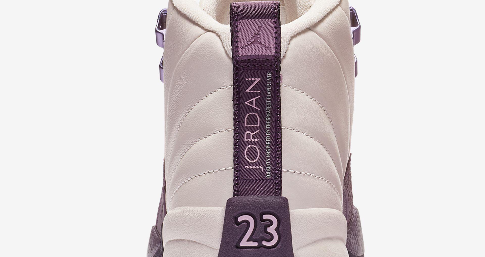 best service bb5b6 223b7 Big Kids' Air Jordan 12 Retro 'Desert Sand & Pro Purple ...