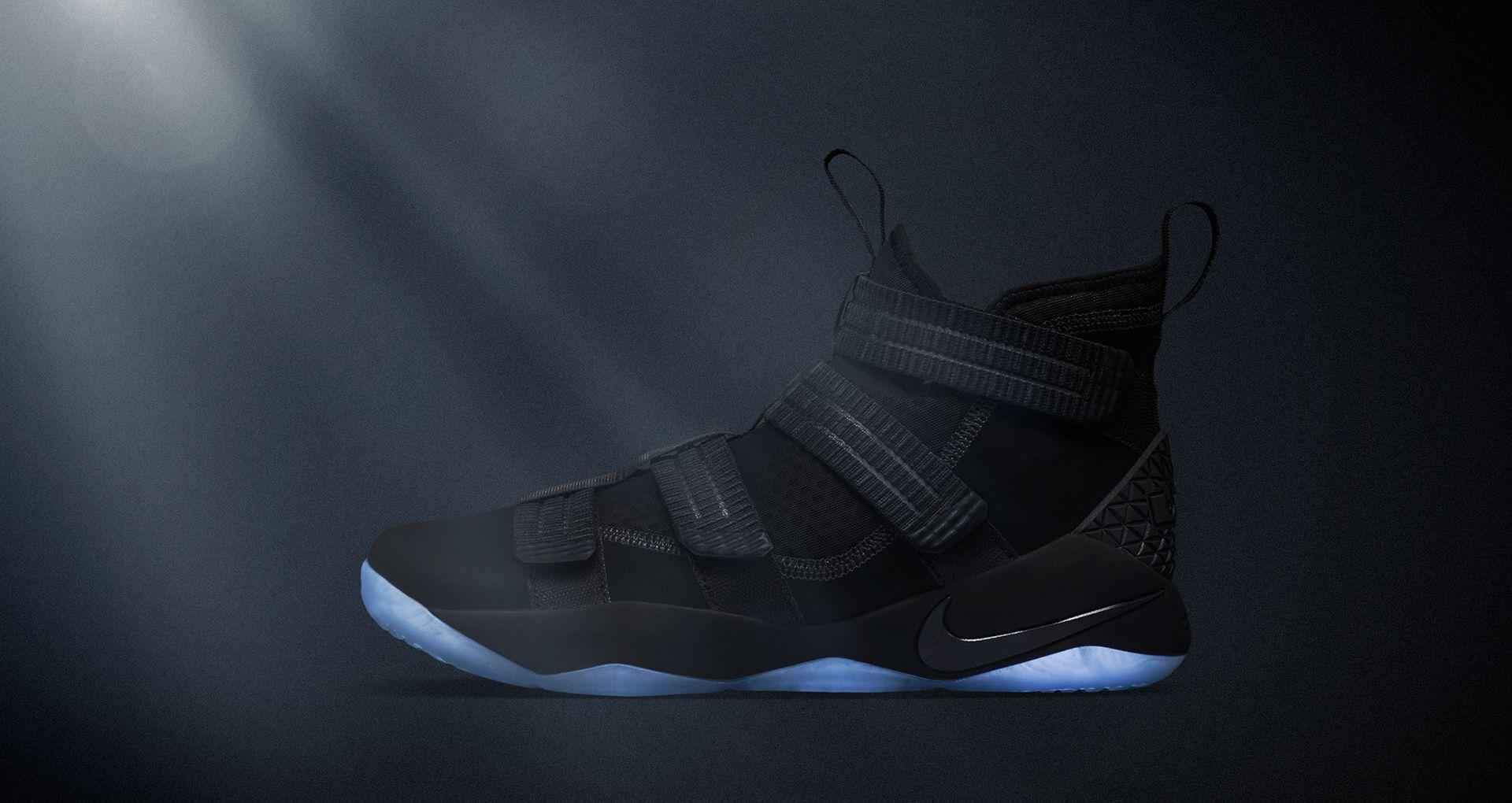 57b59894684 Nike LeBron Soldier XI Prototype  Black . Nike+ SNKRS