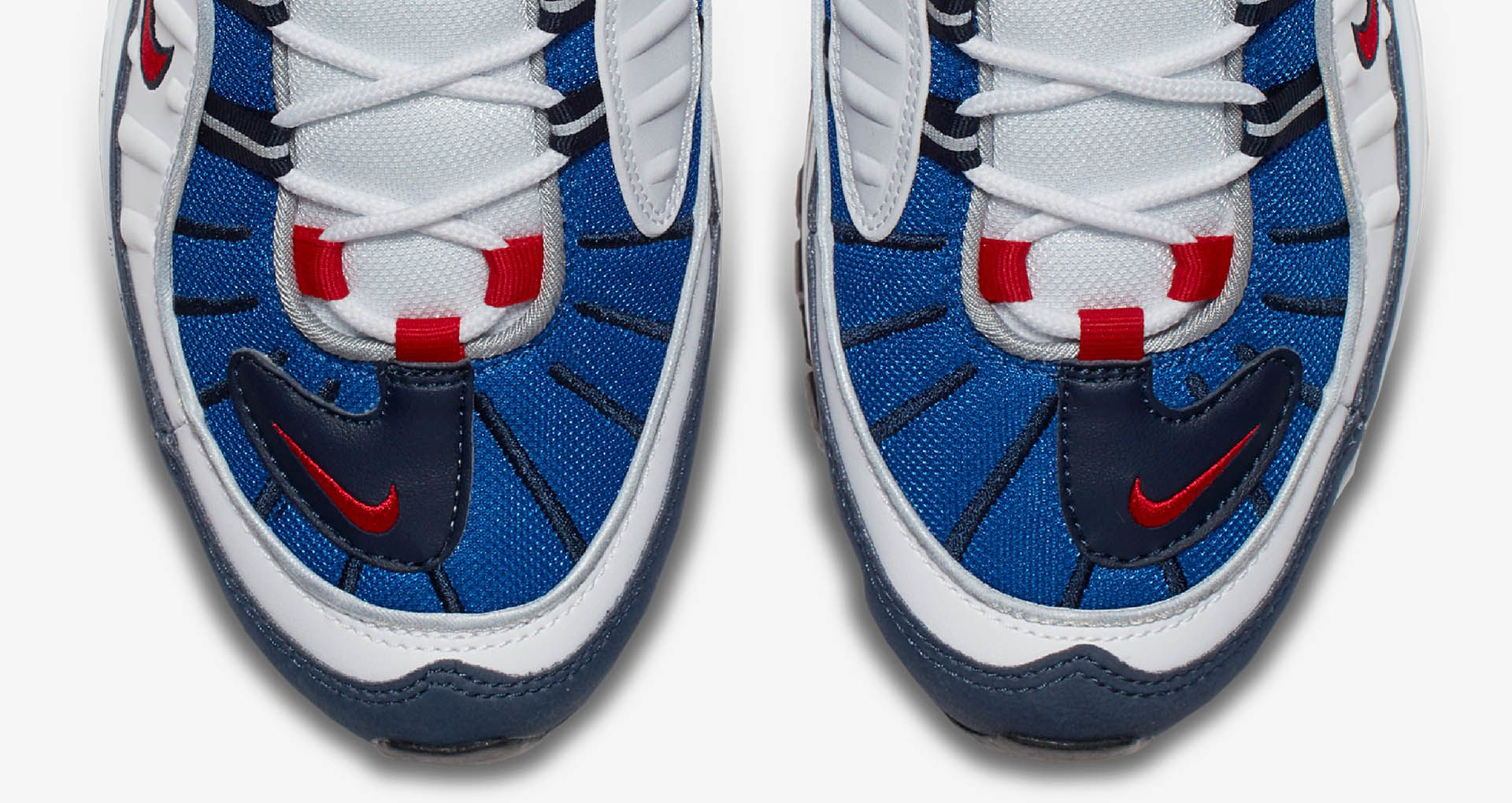on sale 17a22 59ae4 Nike Air Max 98 White  University Red  Royal Blue ...