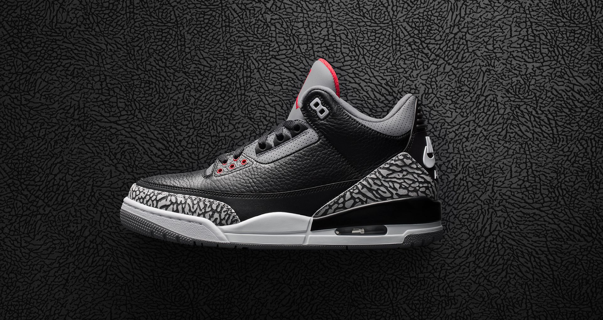 super popular c80fe ff6f6 Air Jordan 3 Retro OG  Black Cement  2018 Release Date