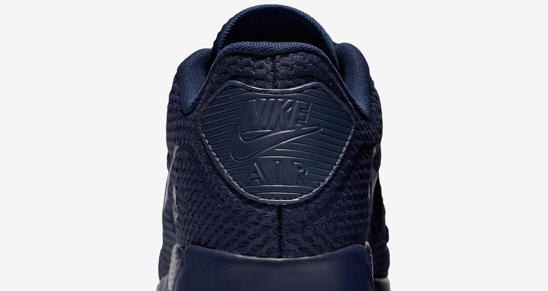 Nike Air Max 90 Ultra Breathe 'Triple Navy'. Nike+ SNKRS