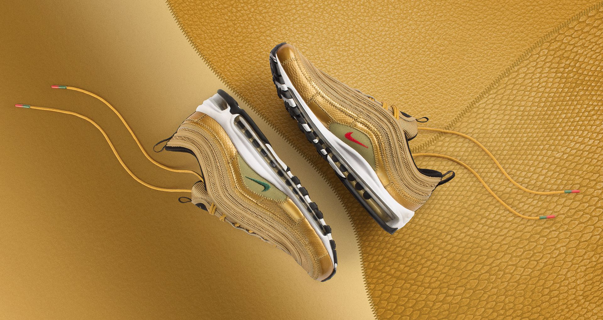 buy popular ed6c7 619c2 Nike Air Max 97 CR7  Golden Patchwork  Release Date. Nike⁠+ Launch GB