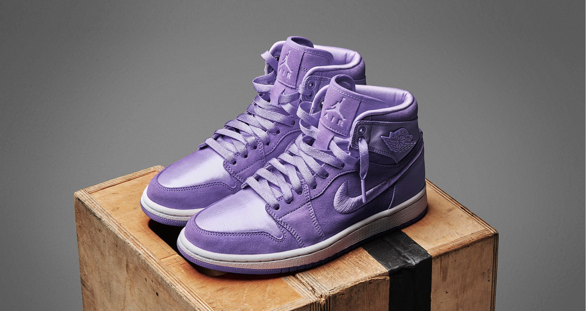 los angeles fc524 76315 Women's Air Jordan 1 Retro High 'Purple Earth' Release Date ...