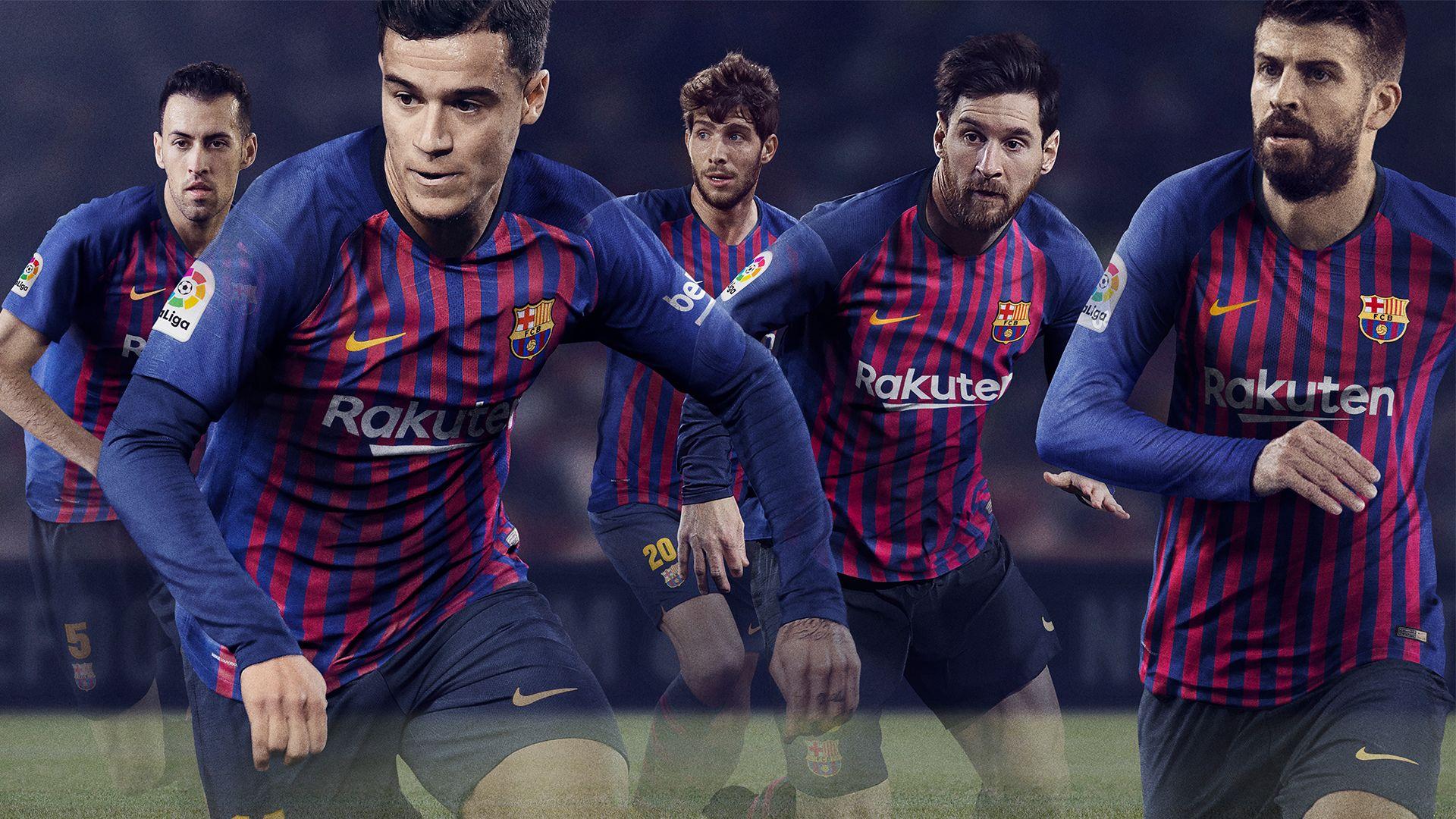 Fc Barcelona 2018 19 Stadium Home Kit Nike Com