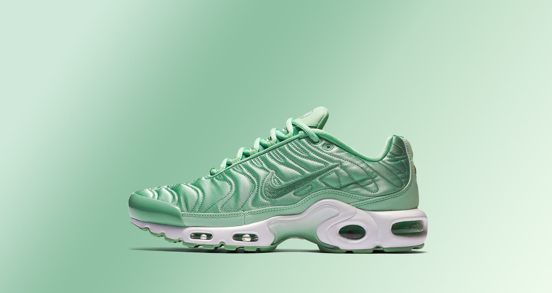 best sneakers 2e734 b2812 Women's Nike Air Max Plus 'Summer Satin' Mint. Nike⁠+ SNKRS