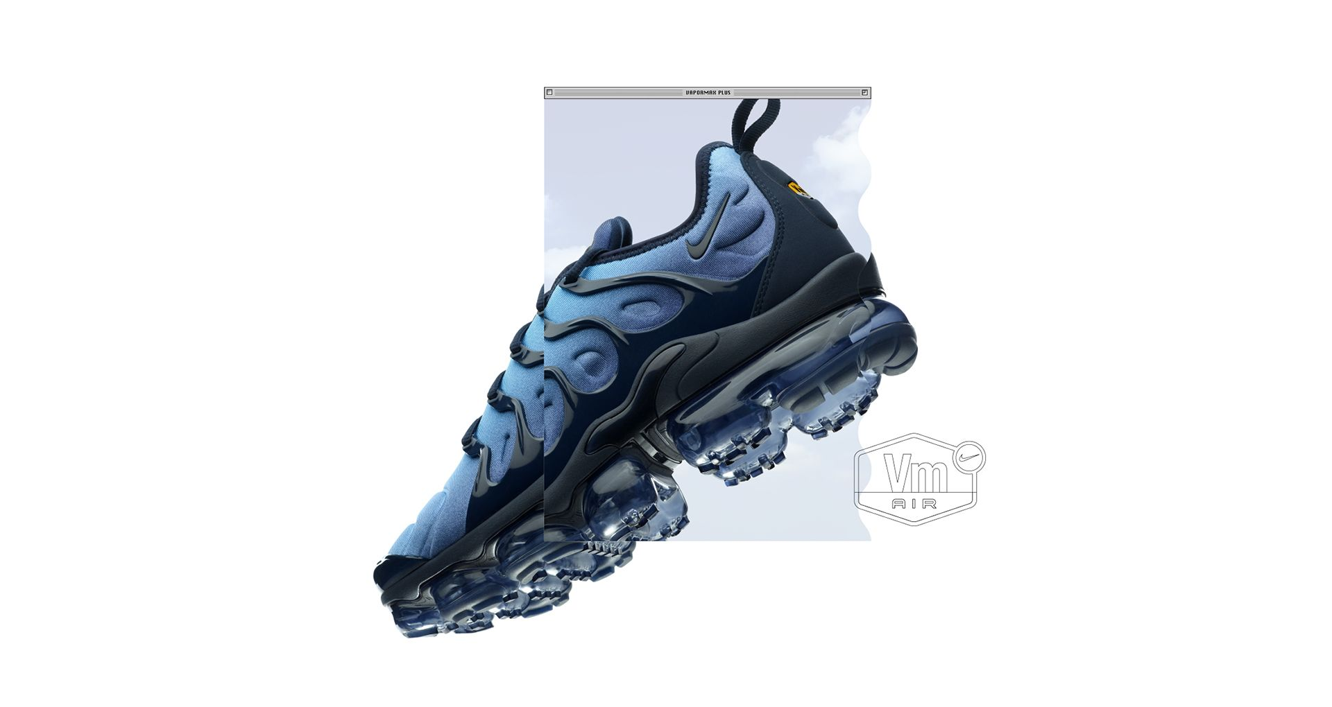 1458716e51846 The VaporMax Plus combines the striking design lines from the  98 cult  classic