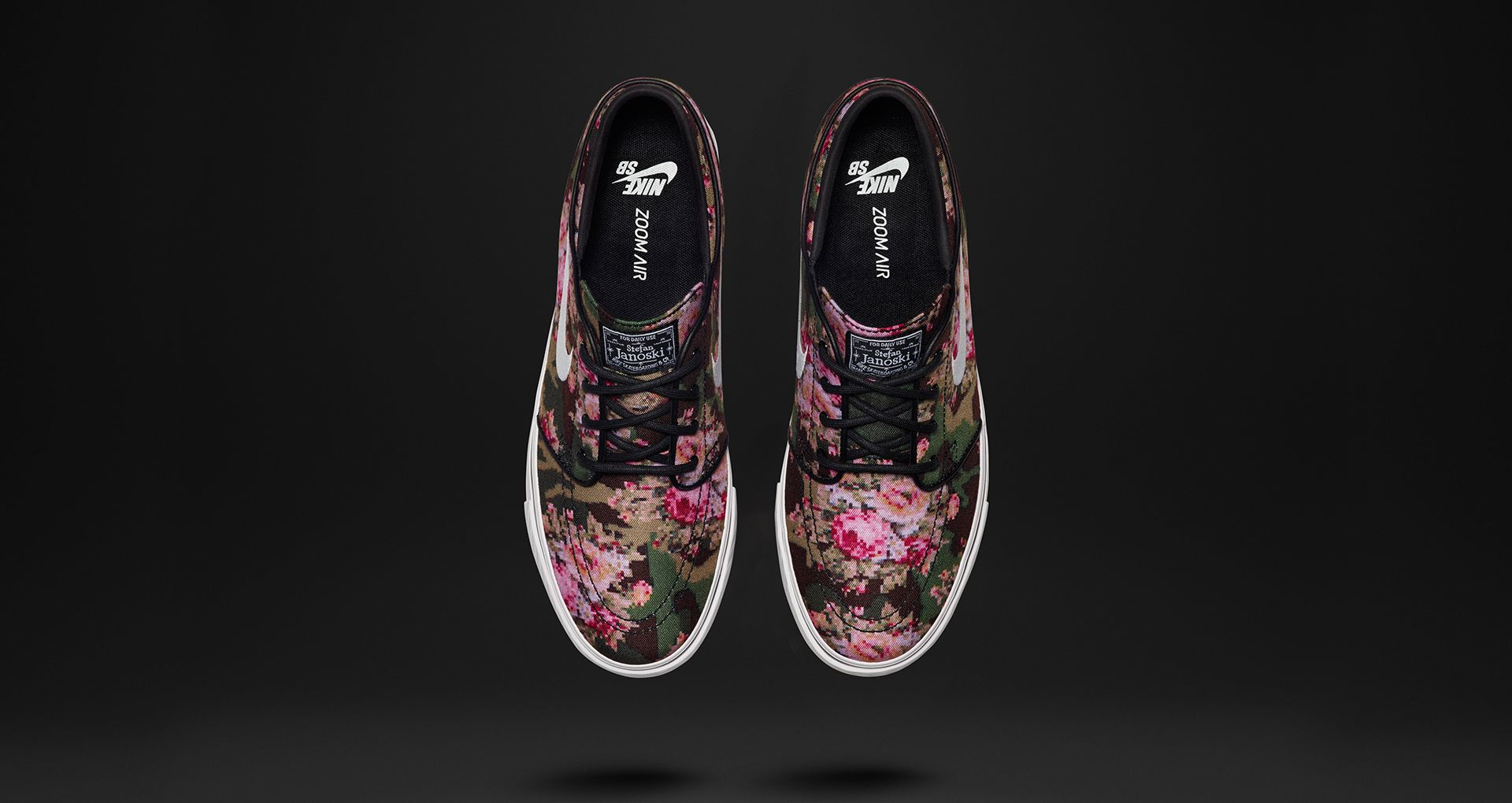 aito laatu lisää valokuvia uusi tuote Nike Zoom Stefan Janoski 'Digi-Floral'. Nike SNKRS