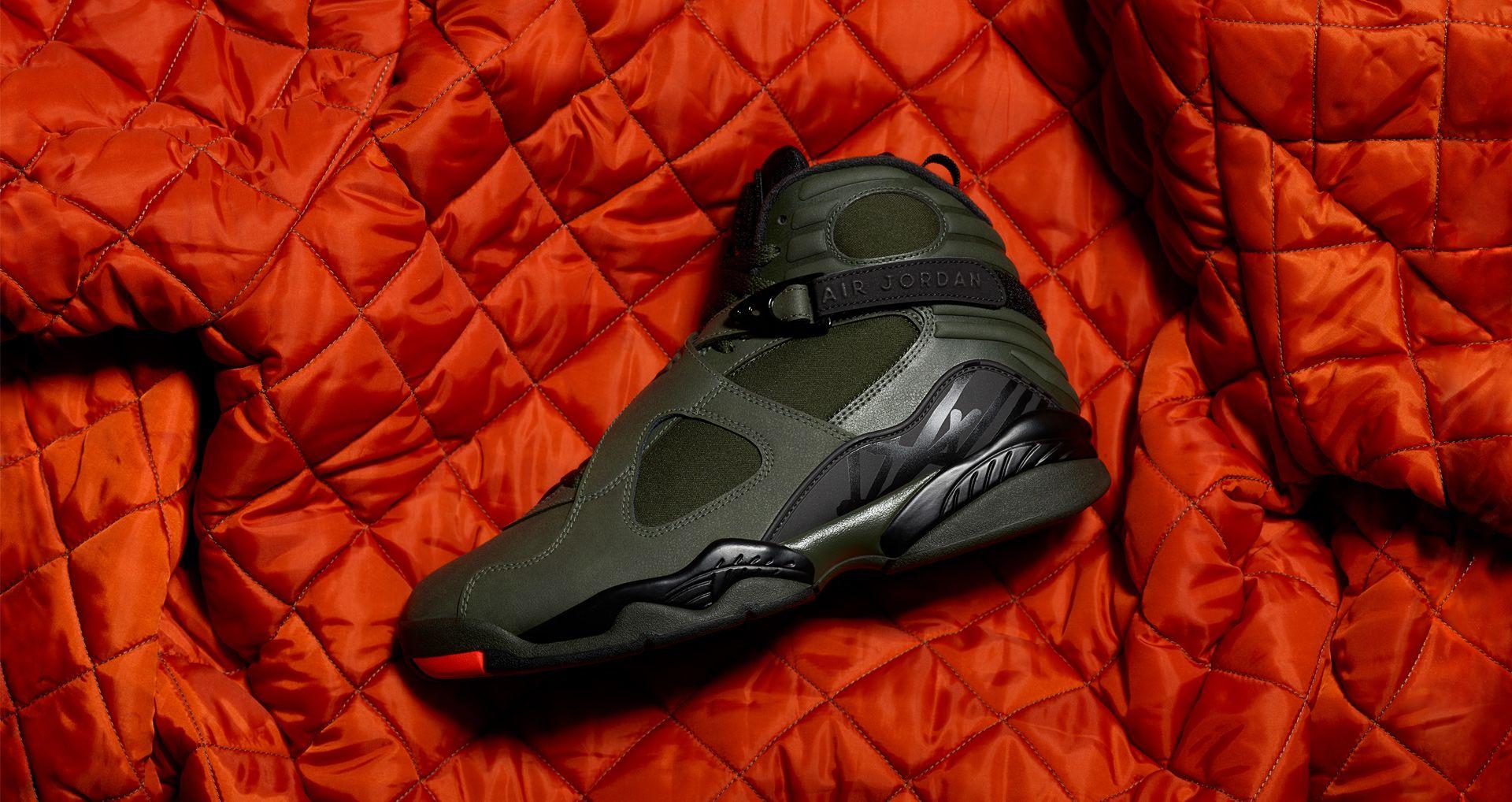 414065dcea29 Air Jordan 8 Retro  Sequoia   Max Orange . Nike+ SNKRS
