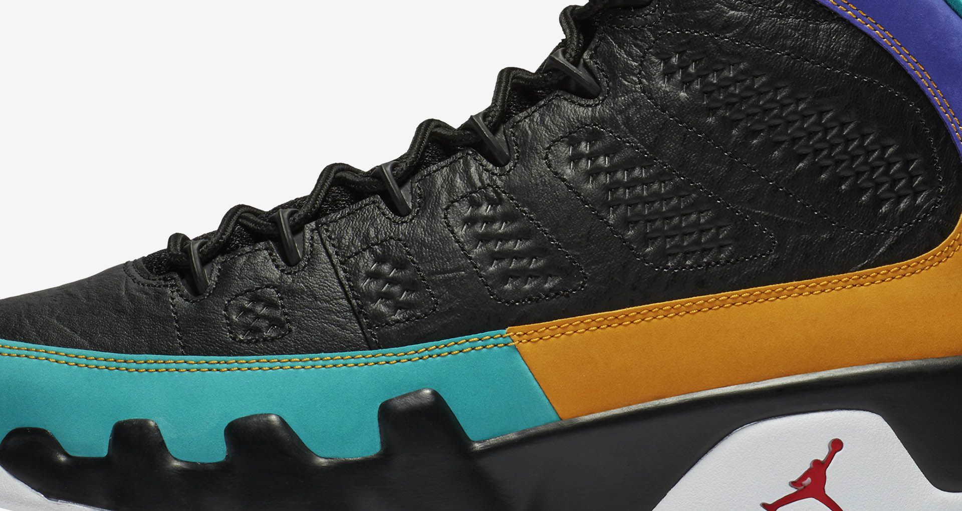 factory price 06b98 d9ffa Air Jordan 9 'Black & Dark Concord & Canyon Gold' Release ...
