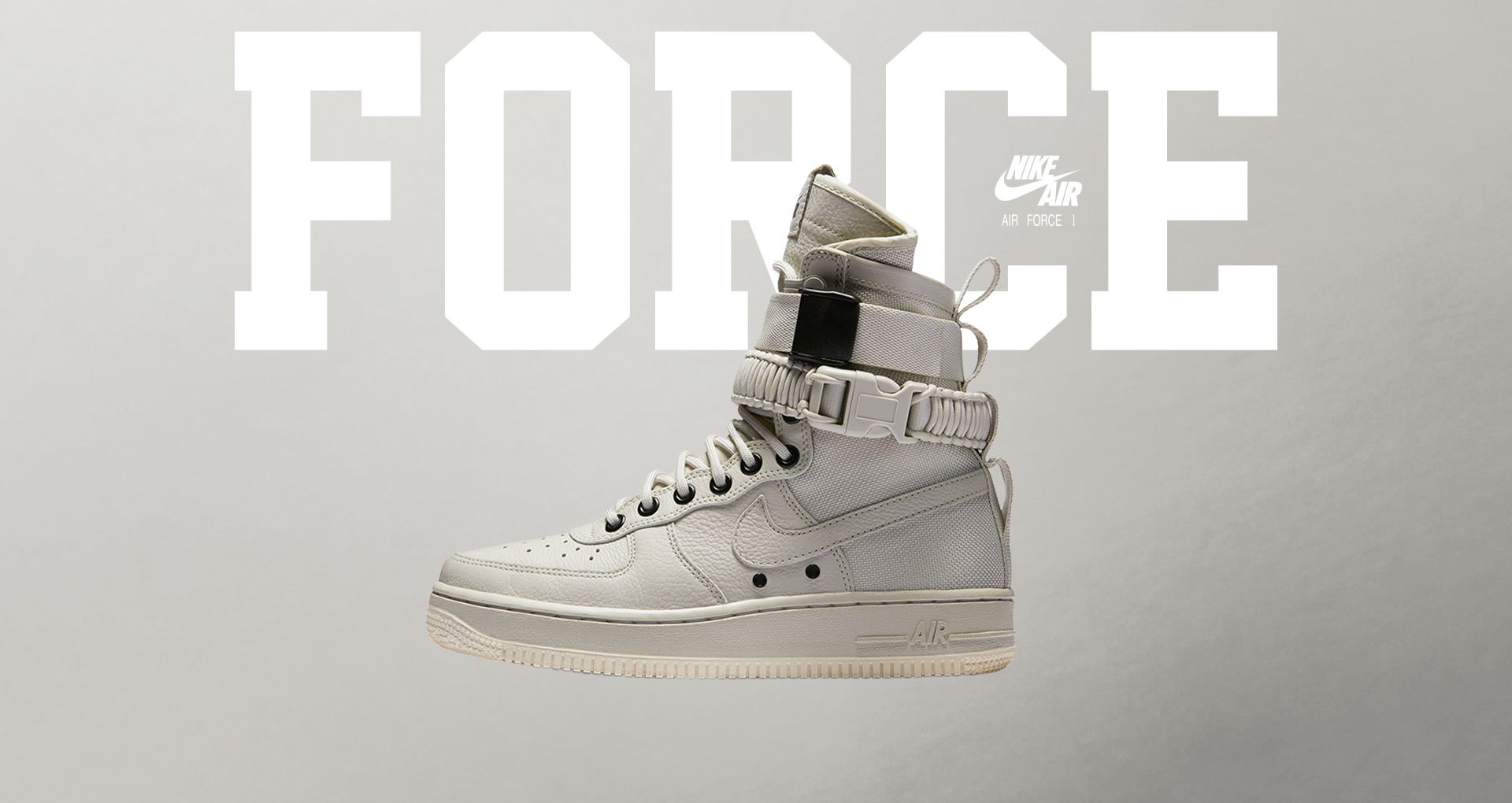 newest 33652 8f2d8 Womens Nike Special Field Air Force 1 Light Bone  Sail.