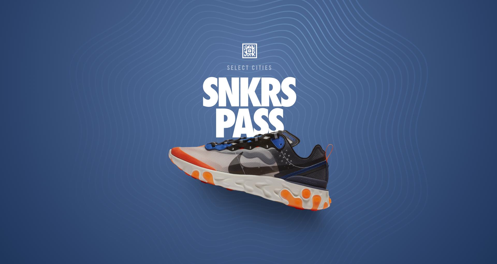 Nike React Element 87 'Total Orange' SNKRS Pass Select