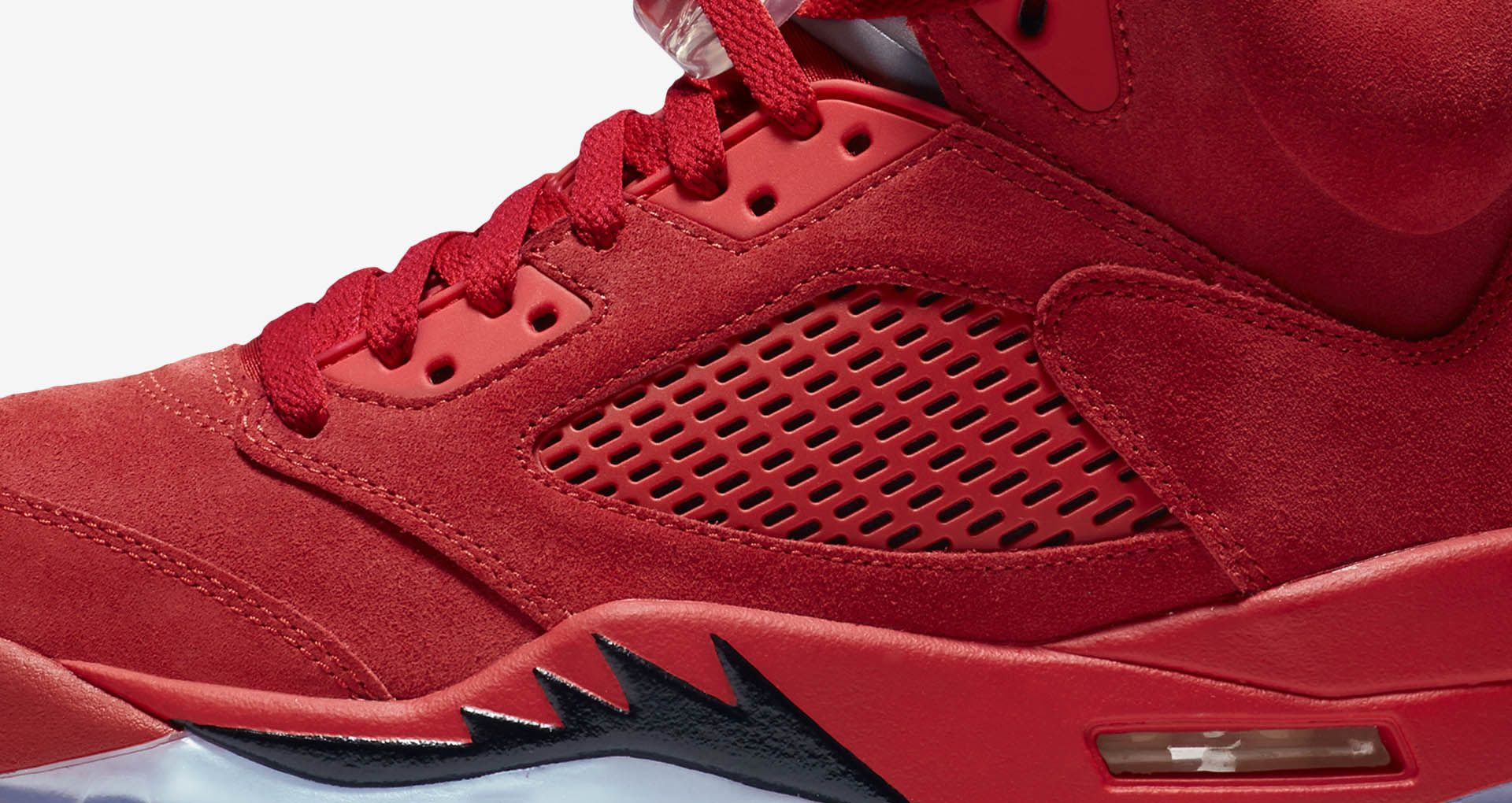 new arrival 25ff4 88259 Air Jordan 5 Retro Flight Suit 'University Red' Release Date ...