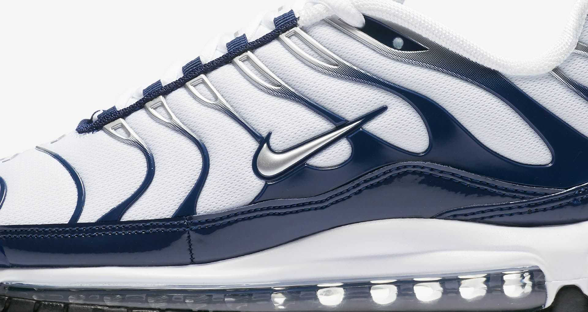 buy popular 30e4b 062f8 Nike Air Max 97 / Plus 'Metallic Silver & Midnight Navy' Release Date