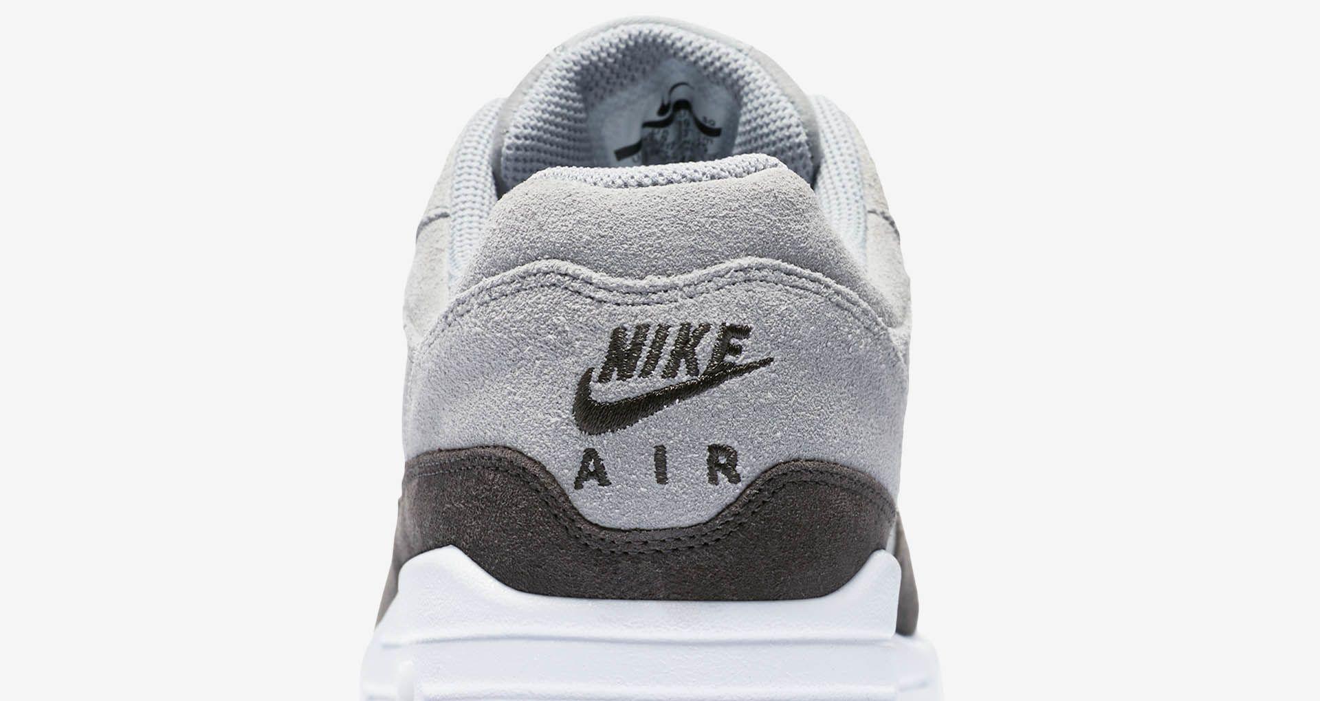 Nike Womens  Air Max 1 Premium  Wolf Grey   Metallic Pewter   White ... 04ca2e936