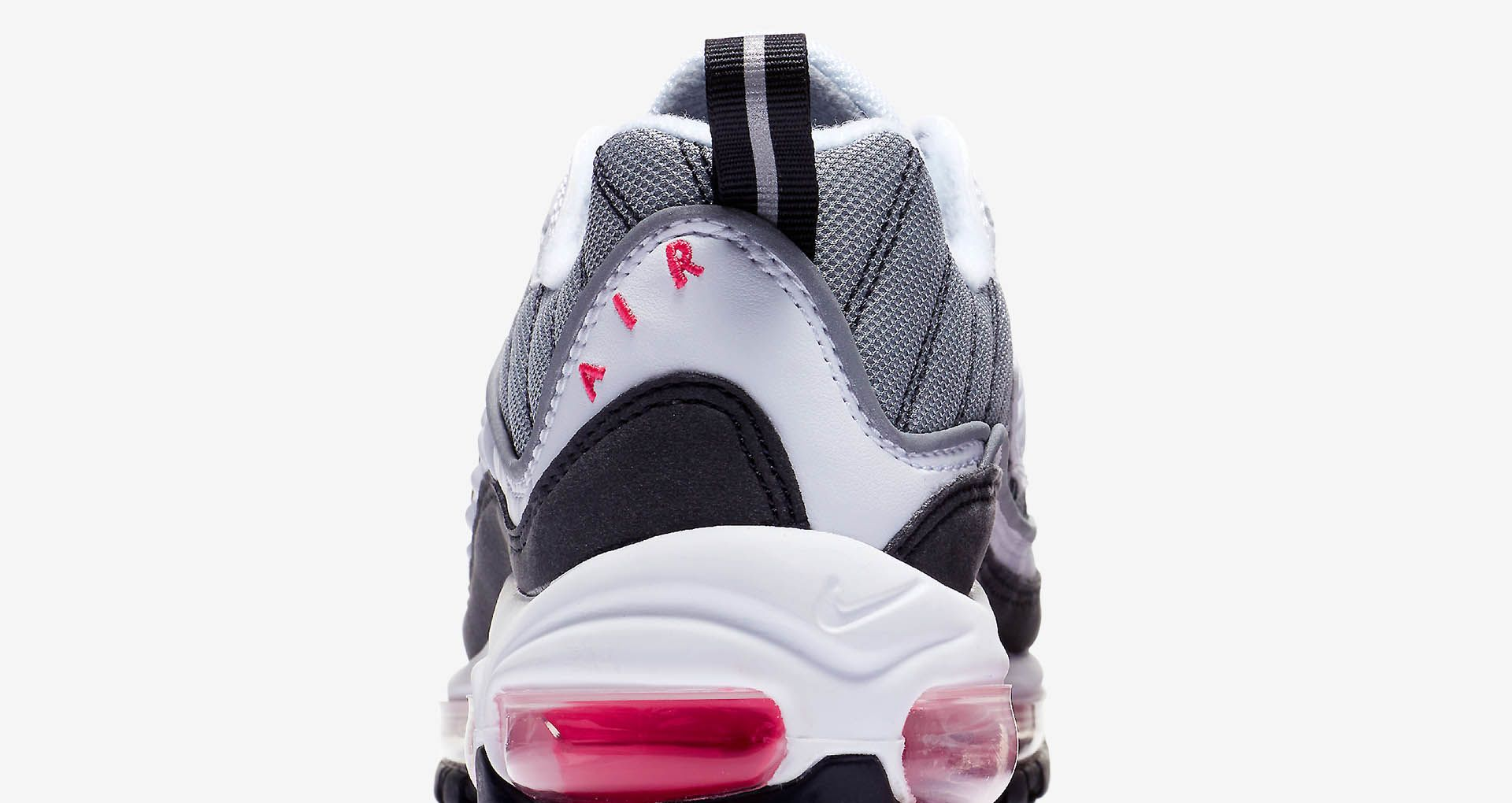 887698bd5b Nike Women's Air Max 98 'White & Solar Red & Reflect Silver' Release Date