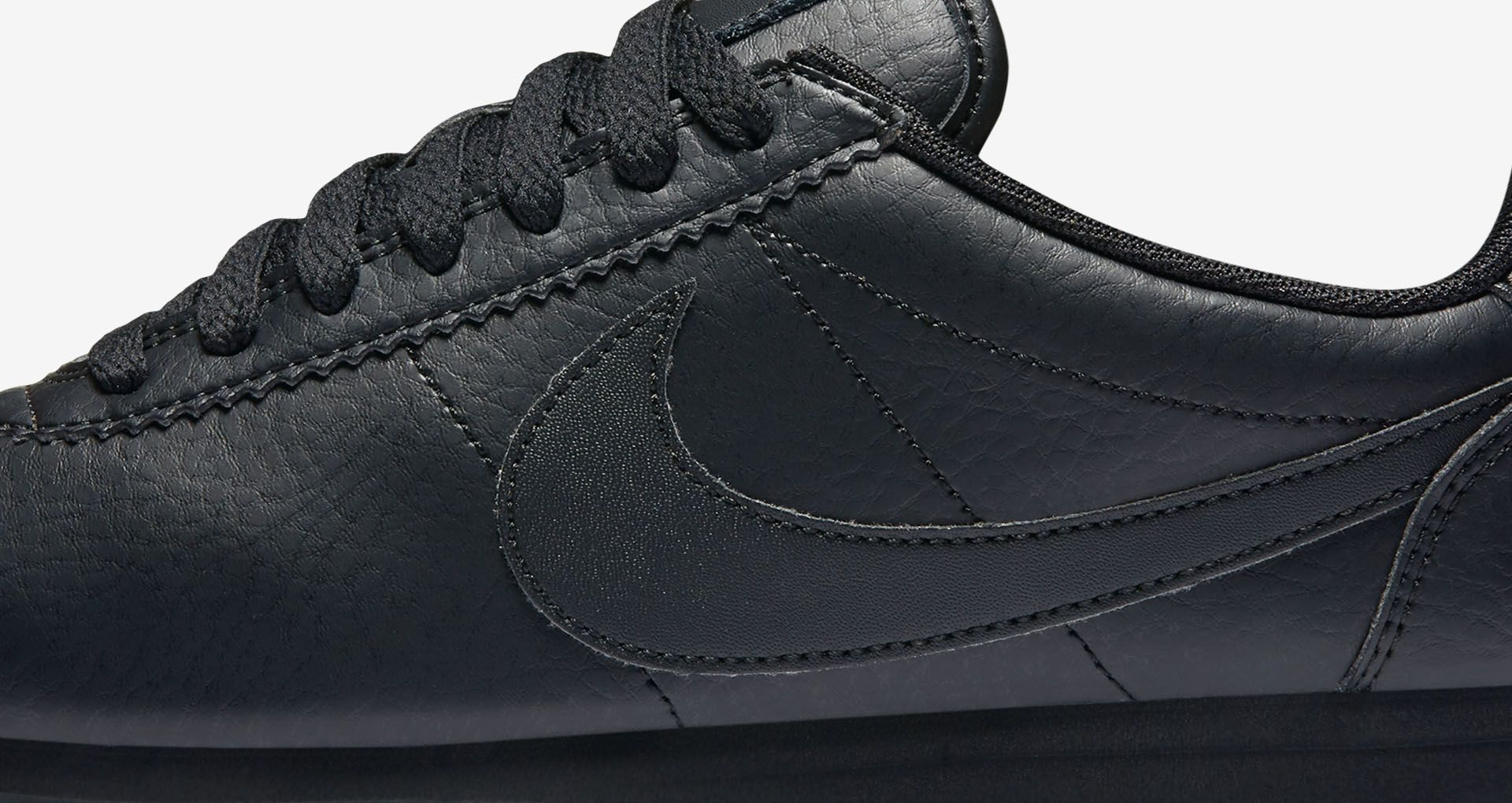 later huge inventory new styles Women's Nike Classic Cortez Premium 'Triple Black'. Nike SNKRS