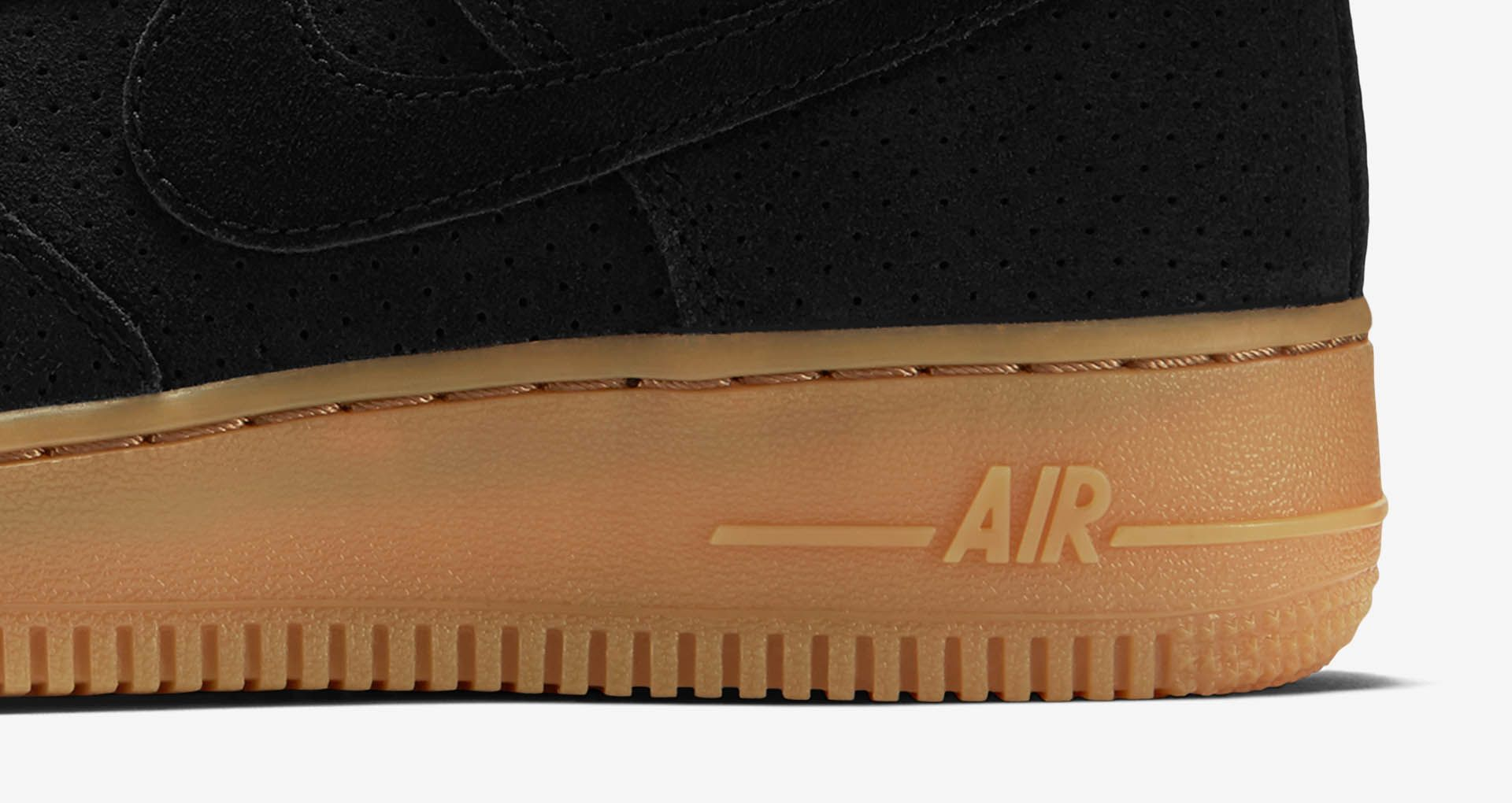 Women's Nike Air Force 1 Hi 'Black Suede & Gum'. Nike SNKRS