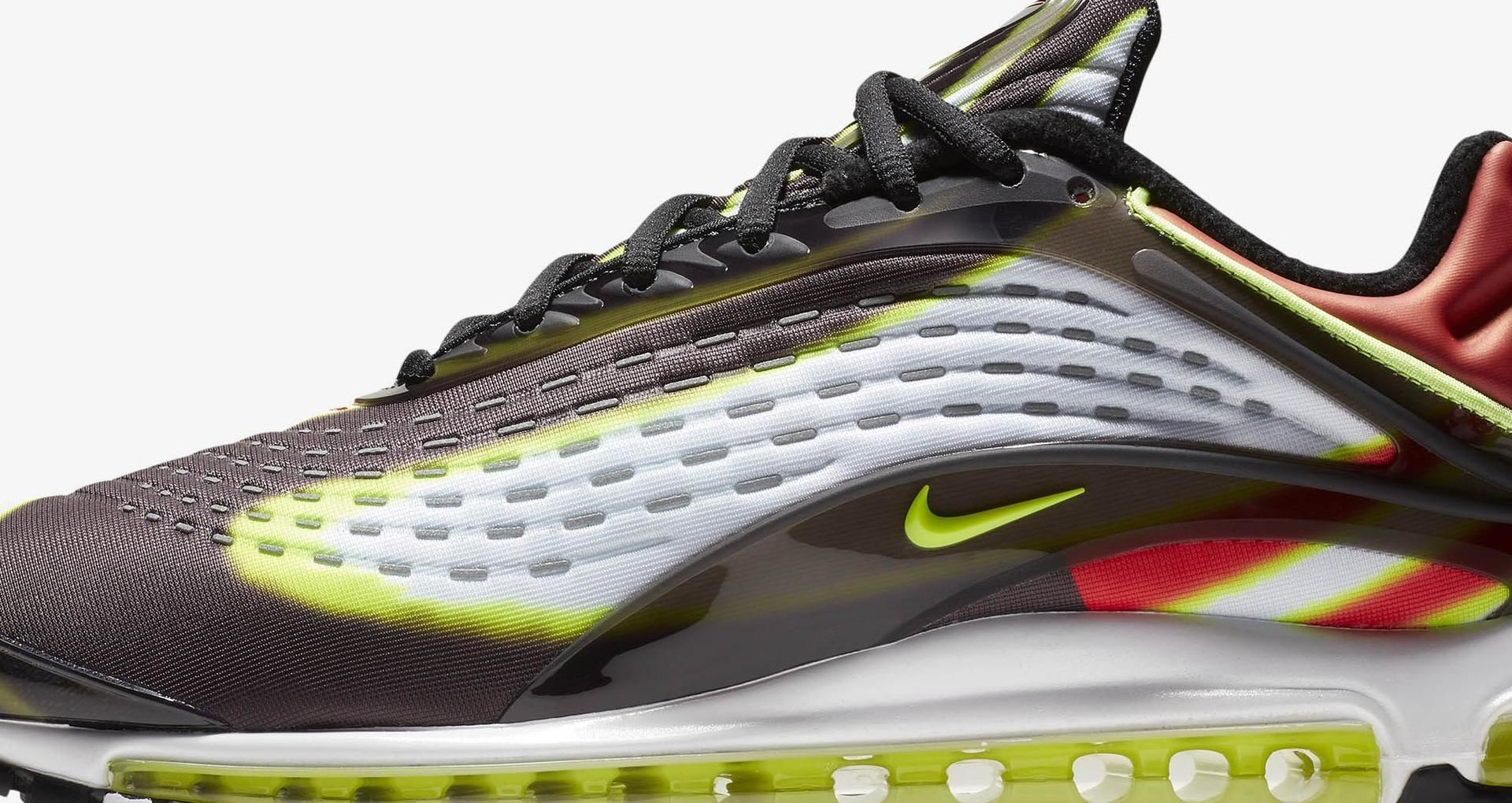 Nike Air Max Deluxe 'Black & Habanero Red & White & Volt