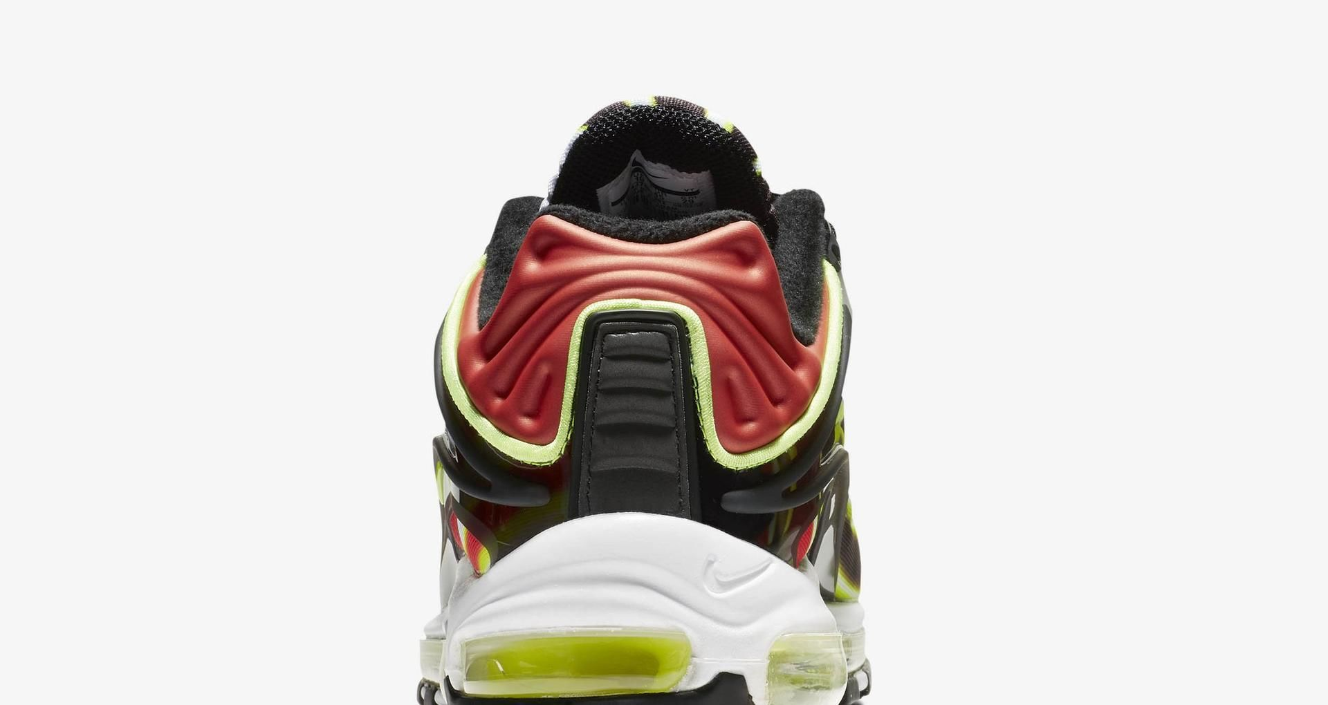 b7d3210cab Nike Air Max Deluxe 'Black & Habanero Red & White & Volt' Release Date