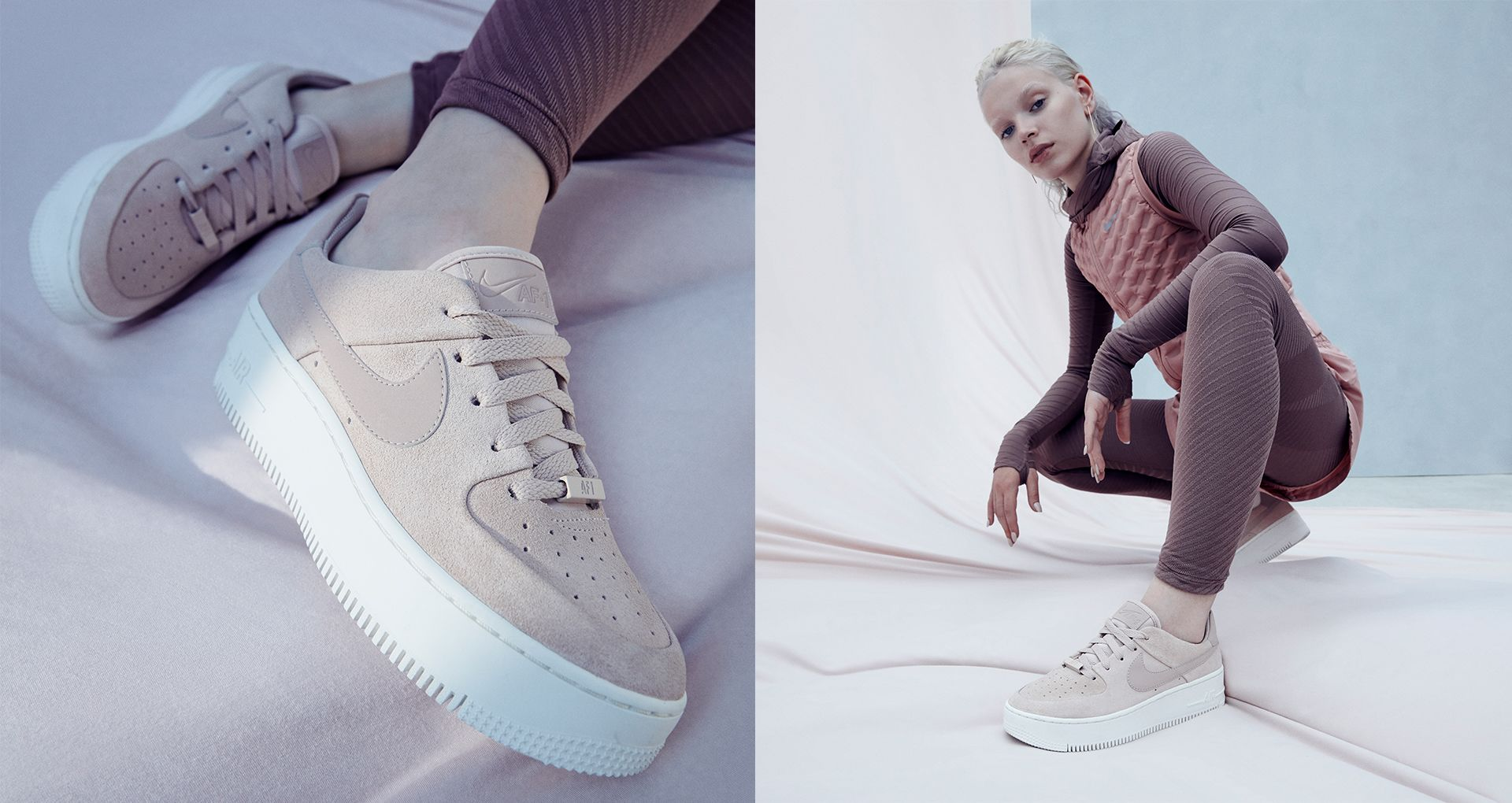 Nike Wmns Air Force 1 Sage Low Particle Beige AR5339 201
