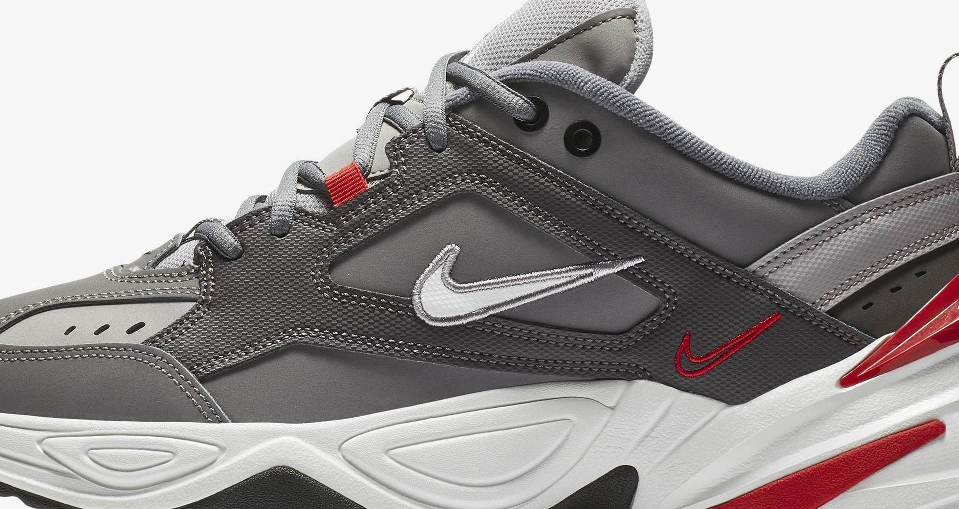 check out f4c73 64ea9 Nike M2K Tekno Gunsmoke  Natural Heather  University Red Release Date