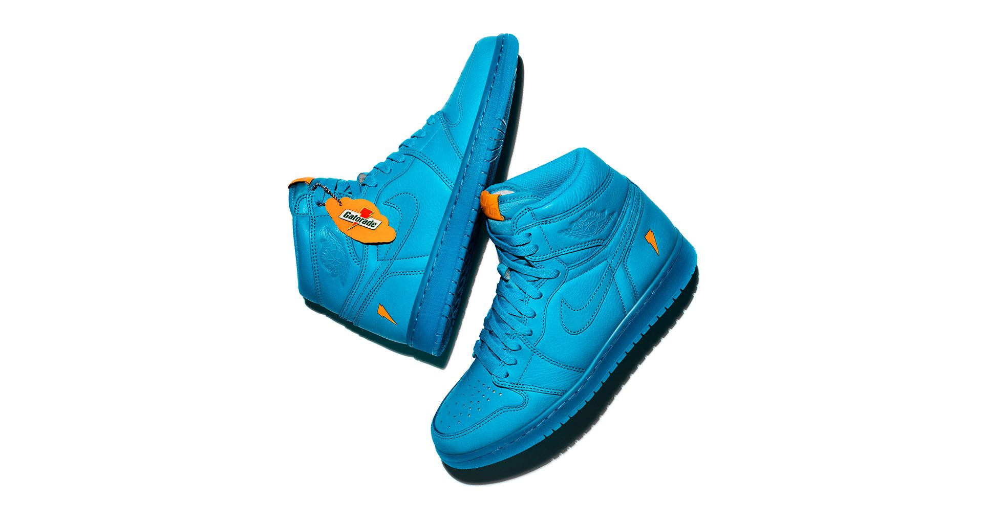 922a6429629a31 Air Jordan 1 High Gatorade  Cool Blue  Release Date. Nike⁠+ SNKRS