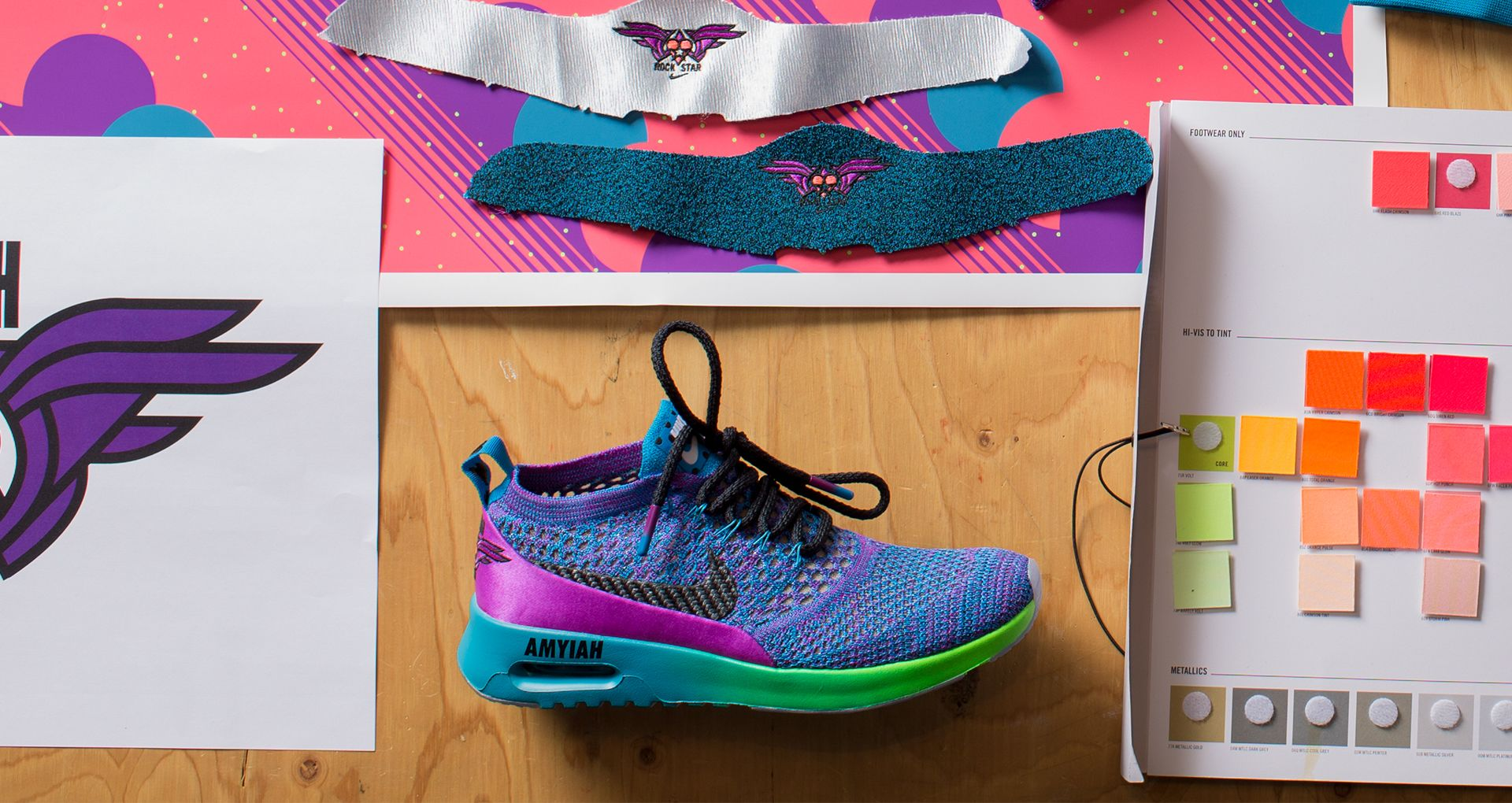 ce0ddab9e411f Behind The Design  Amyiah s Air Max Thea Ultra Flyknit 2017. Nike+ ...
