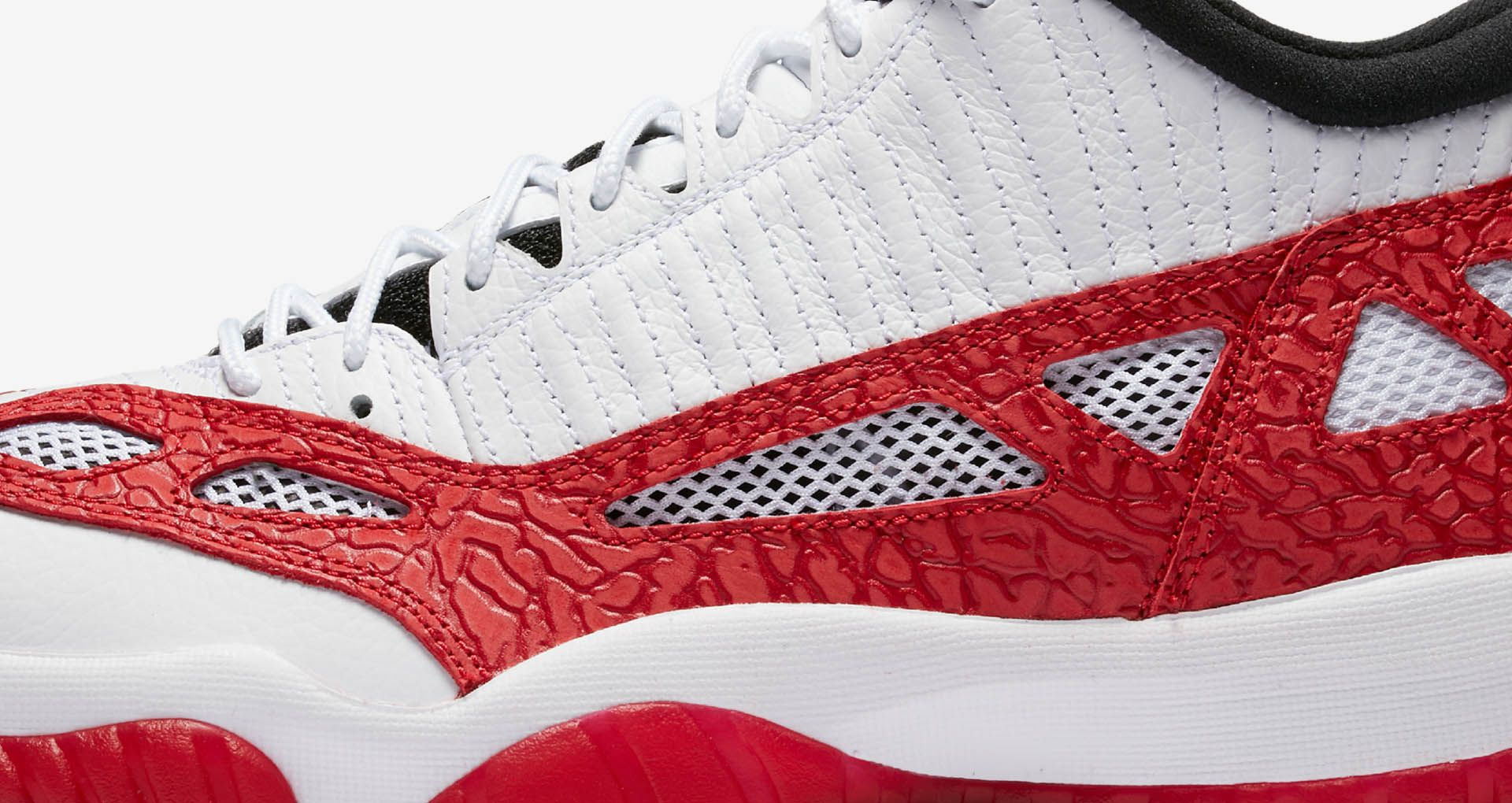 Air Jordan 11 Retro Low IE  White   Gym Red  Release Date. Nike+ SNKRS 602e6bf6c