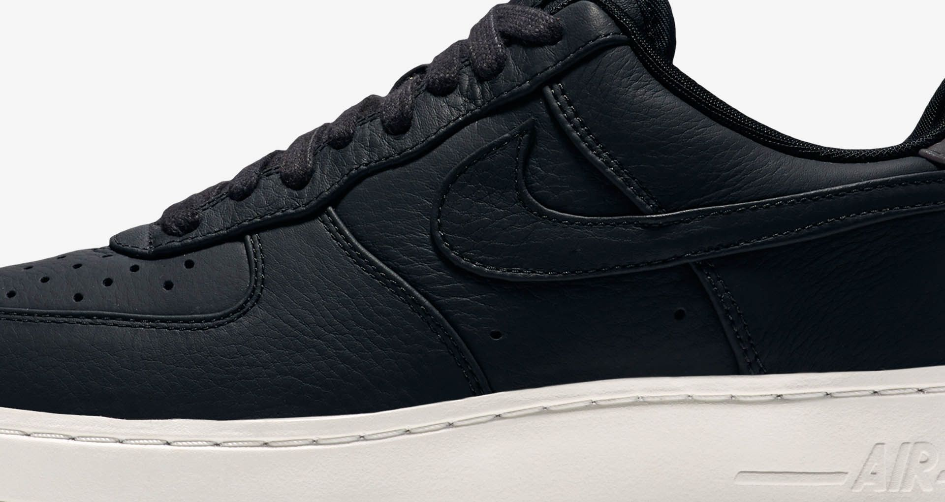 NikeLab Air Force 1 Low 'Black & Sail''. Nike SNKRS
