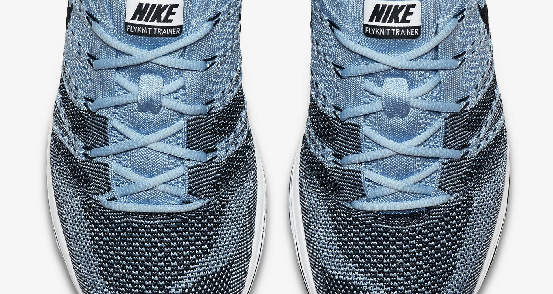 6b7a886892ff Nike Flyknit Trainer  Cirrus Blue   Black  Release Date. Nike⁠+ SNKRS
