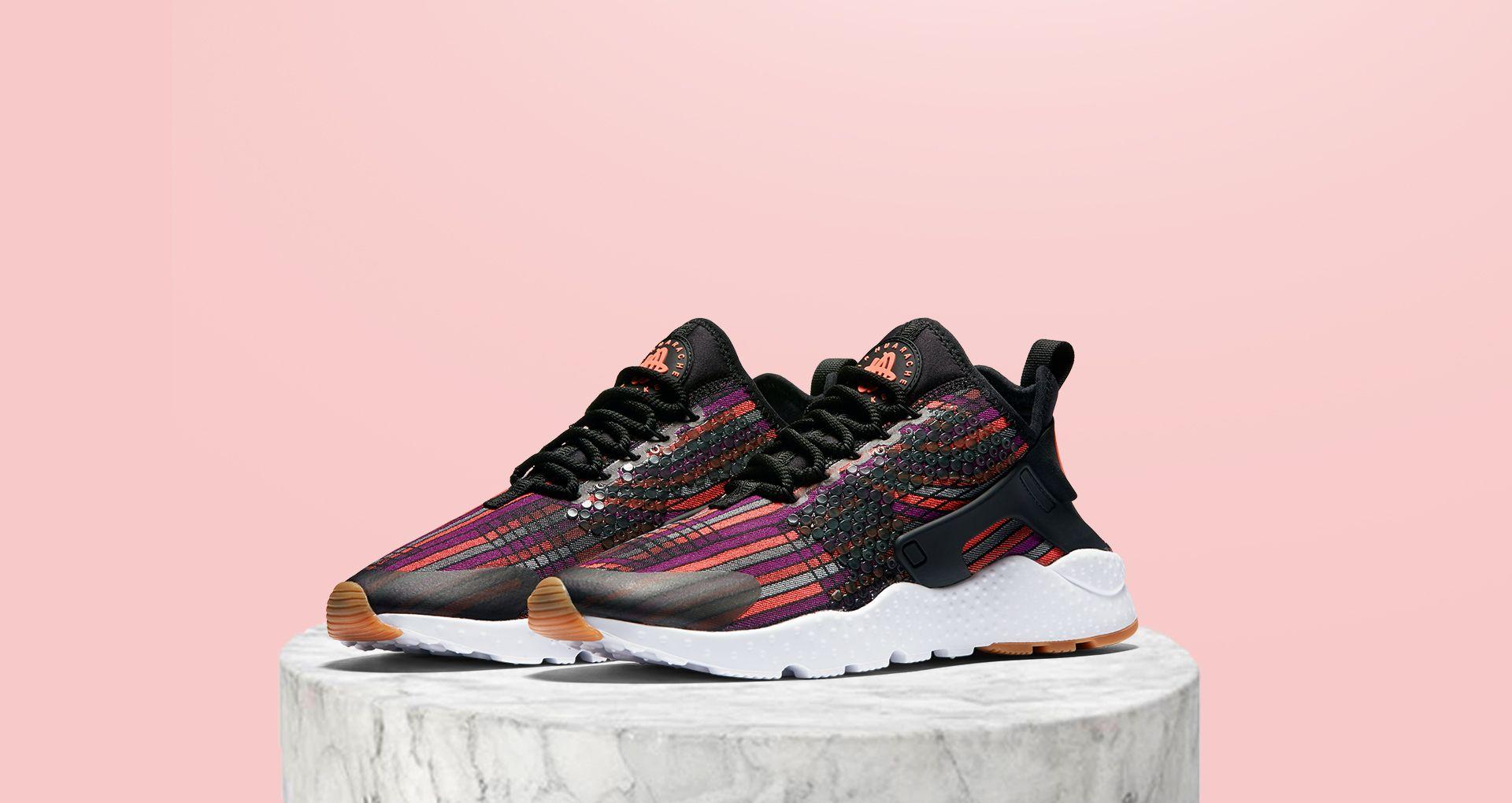 fc27dd0647 Women's Nike Air Huarache Ultra Jacquard Premium 'Hot Lava'. Nike+ ...