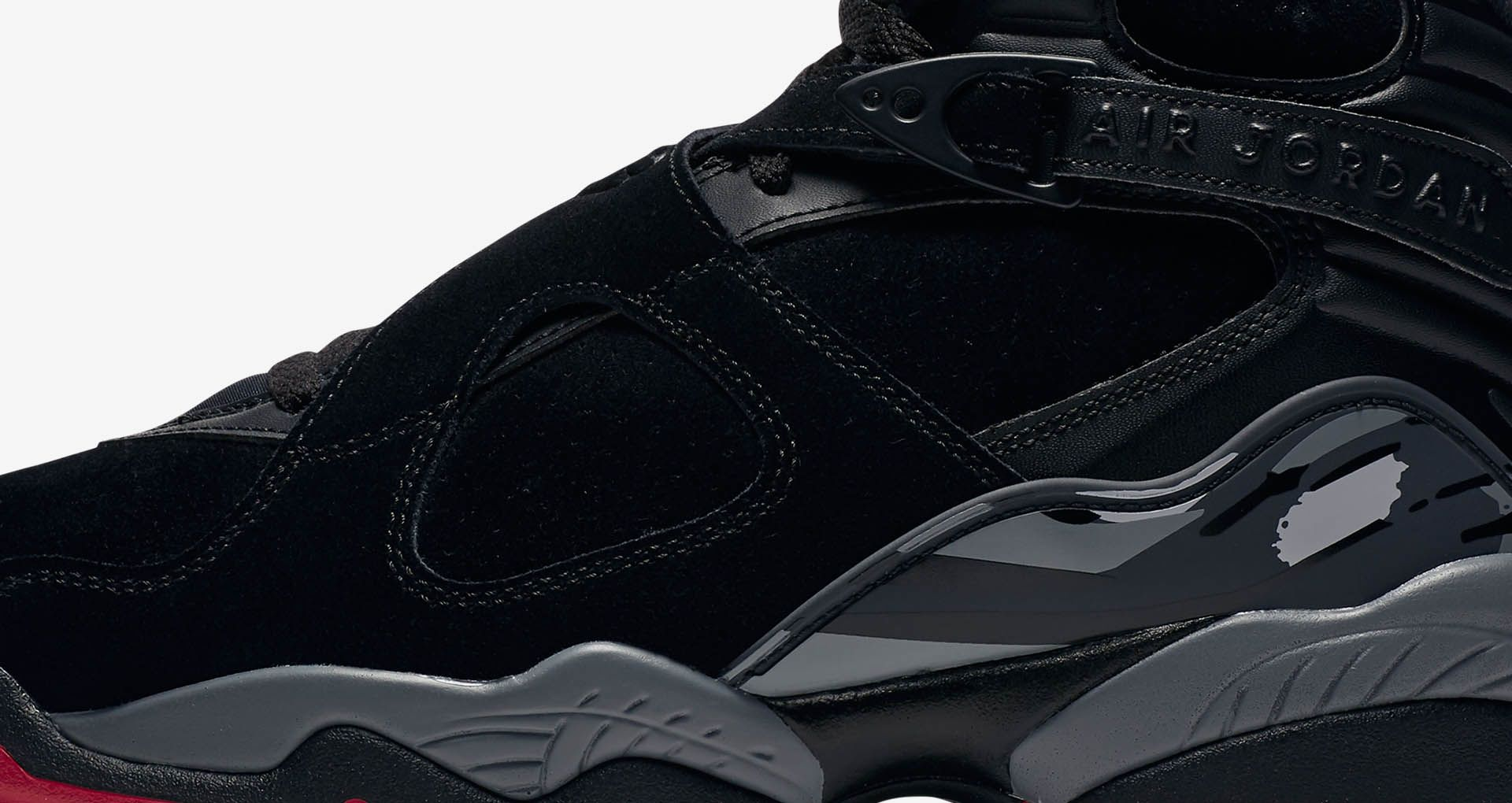 3d3a50223f7 Air Jordan 8 Retro 'Black & Gym Red' Release Date. Nike+ SNKRS