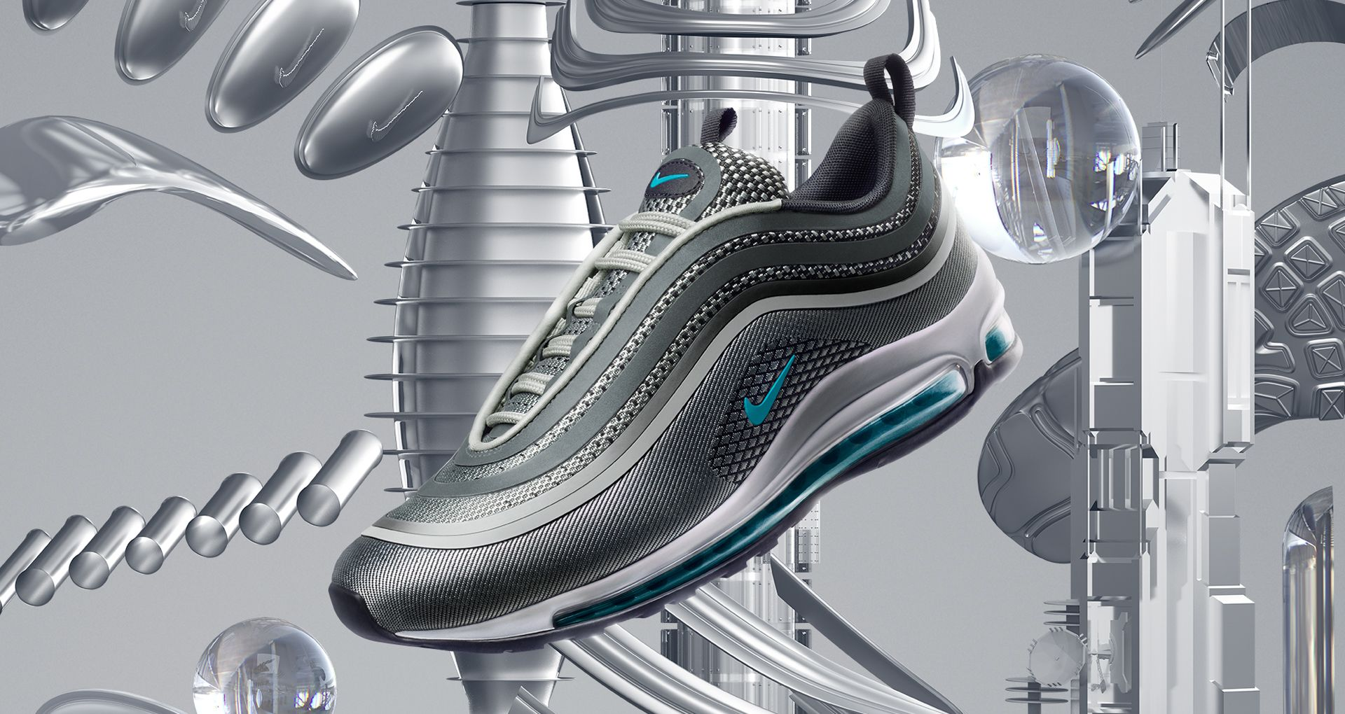 Women's Nike Air Max 97 Ultra '17 'Wolf Grey & Marina Blue