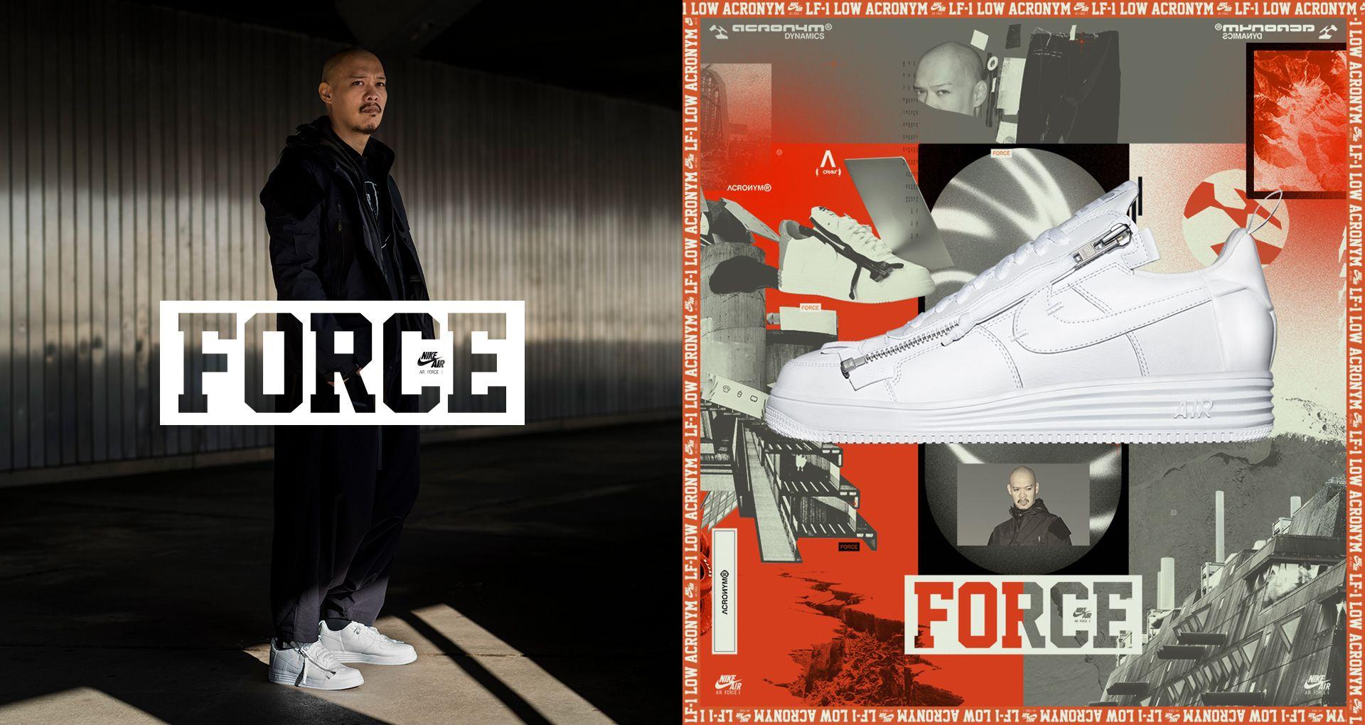 a9e8654f84f2 Behind The Design  Lunar Force 1 Acronym. Nike+ SNKRS
