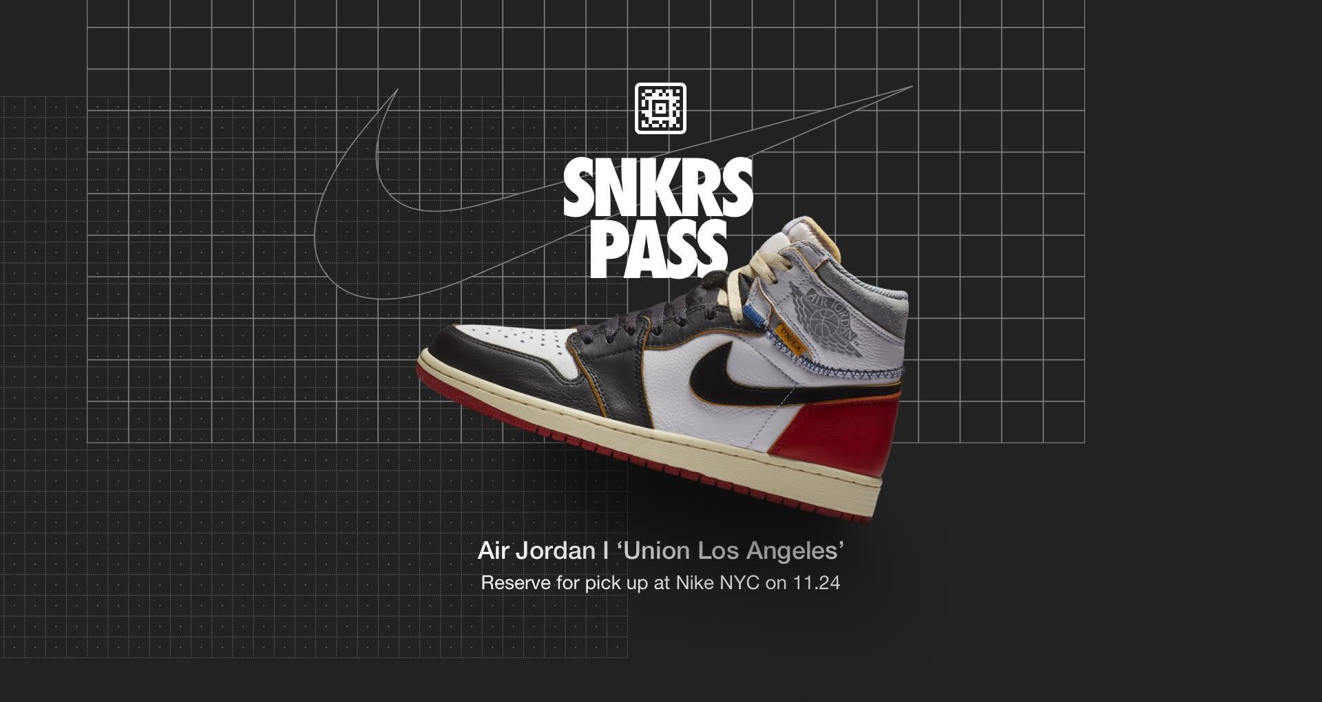 Air Jordan 1 'Union Los Angeles' SNKRS Pass Nike NYC  Nike+