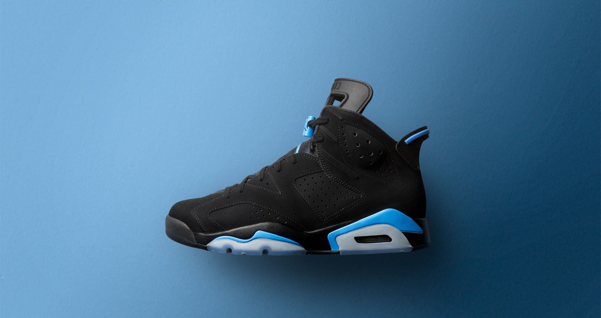 8650b02b3 Air Jordan 6  Black   University Blue  Release Date. Nike⁠+ SNKRS