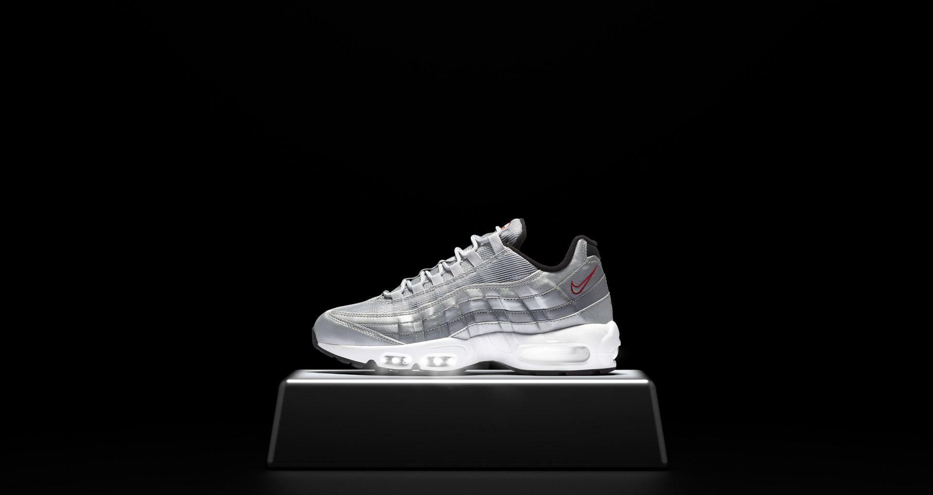 9ea396d21edc Nike Air Max 95 Premium  Metallic Silver . Nike+ SNKRS