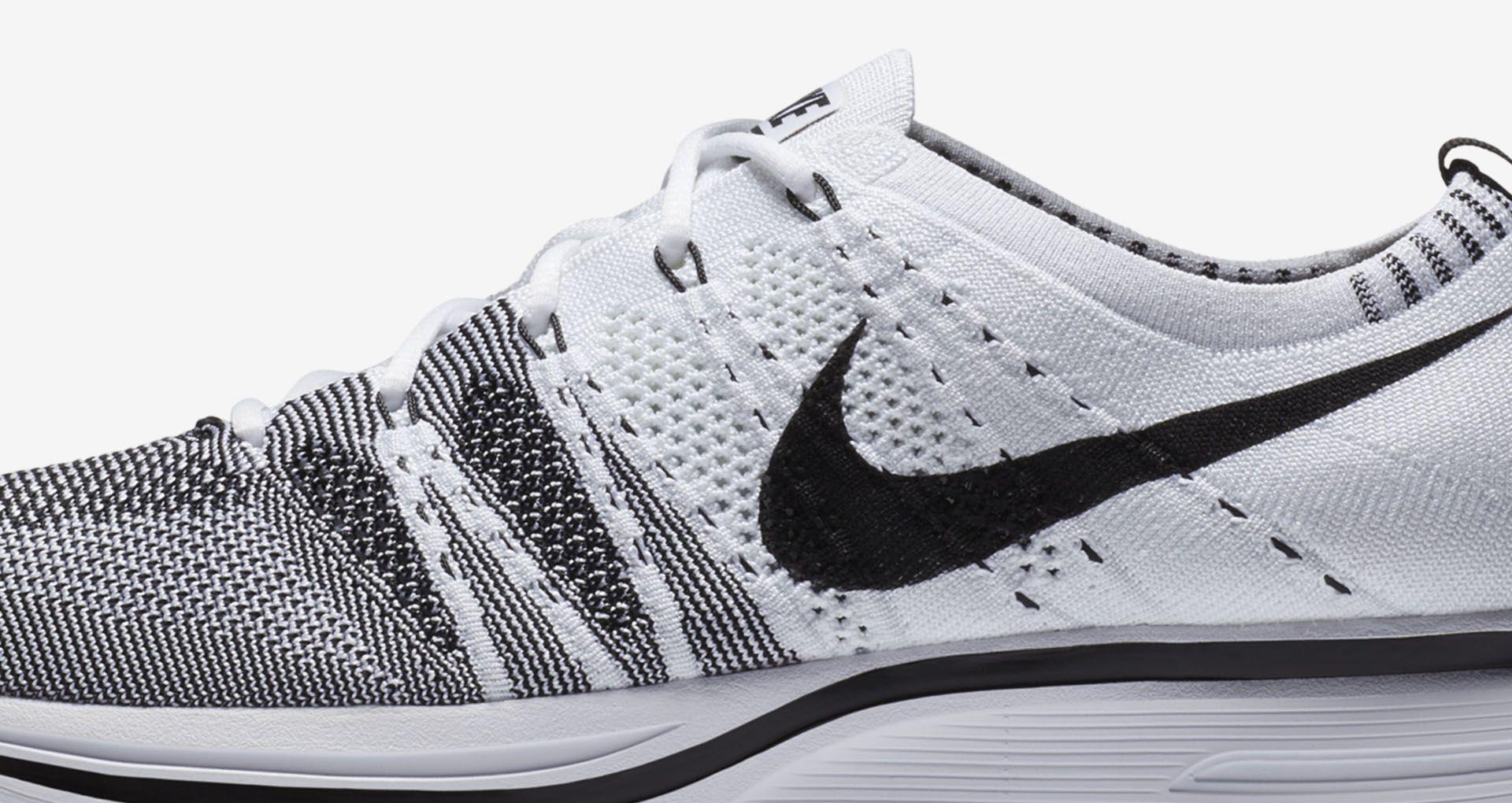 0465edcaa3643 Nike Flyknit Trainer  White   Black . Nike+ SNKRS