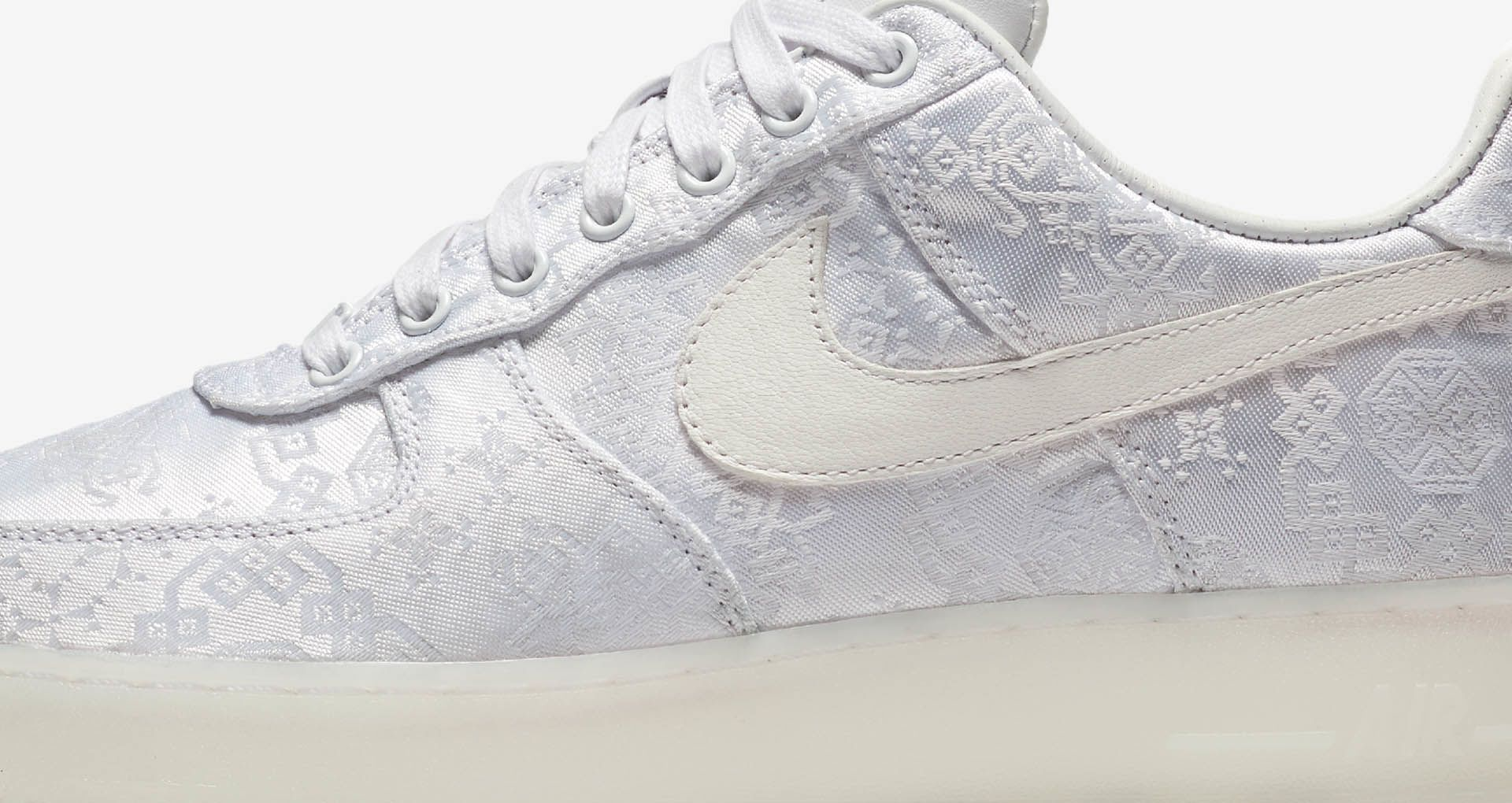 CLOT Drops Nike Air Force 1 Premium in White Silk | HYPEBAE
