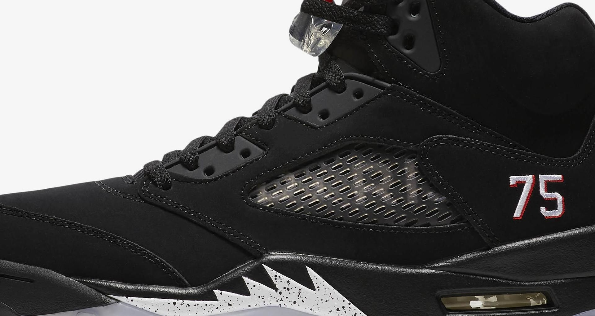 new product c8643 c3a2c Air Jordan 5 PSG ' Black & Challenge Red' Release Date ...