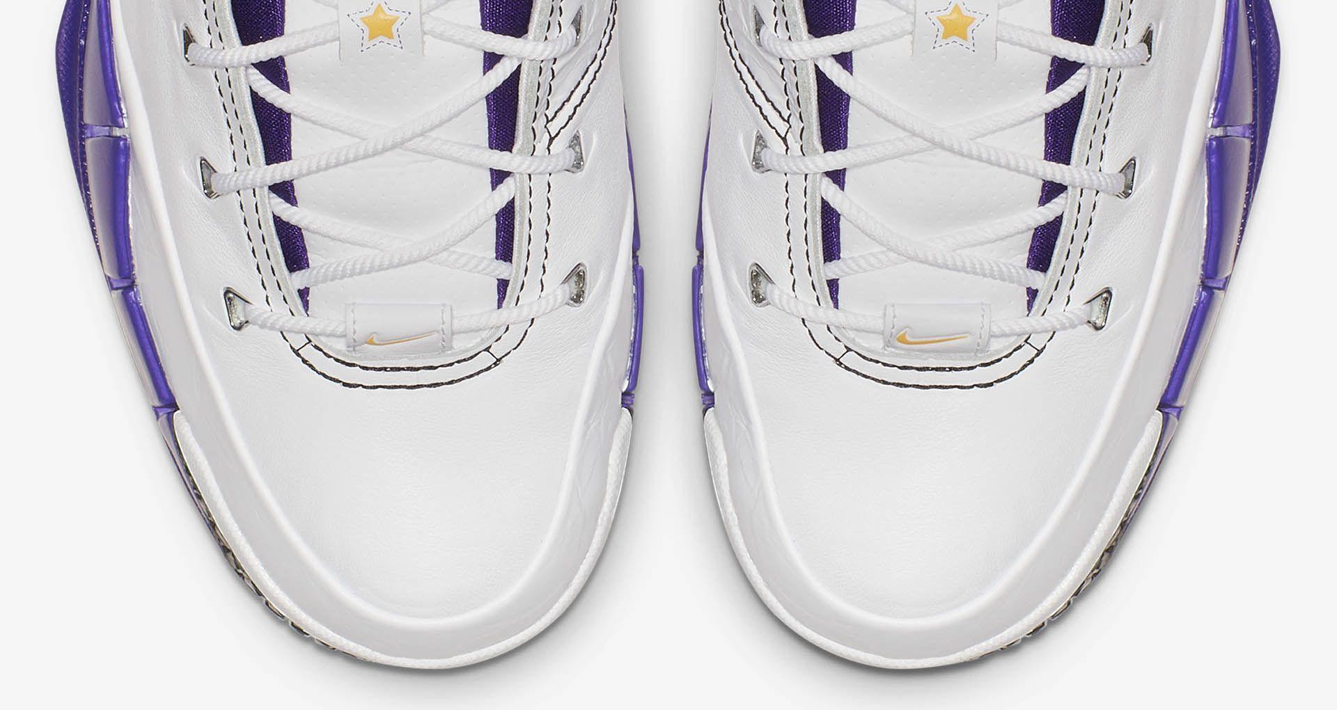62d0e3888cd0 Nike Zoom Kobe 1 Protro  White   Varsity Purple   Black  Release ...