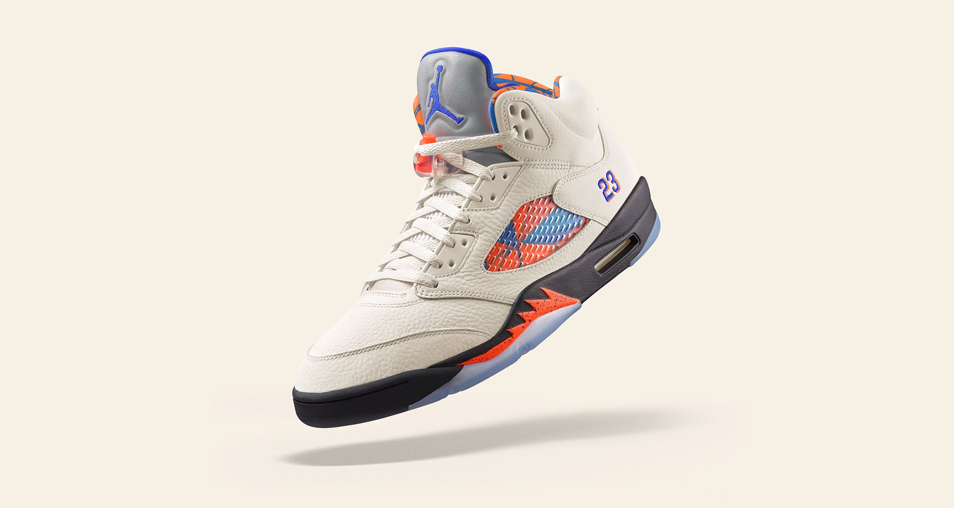 new product c034a a27cd AIR JORDAN V. INTERNATIONAL FLIGHT. Air Jordan 5 Retro  Sail   Racer Blue   ...