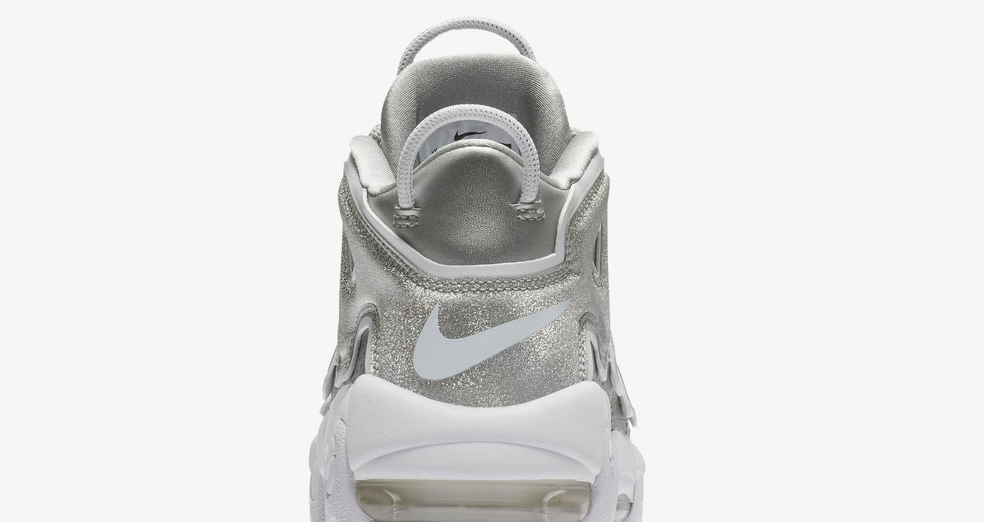 4c9152c6fd84 Women s Nike Air More Uptempo  Metallic Silver   White  Release Date ...