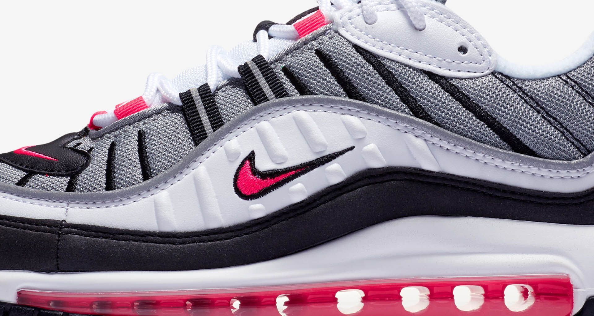 separation shoes 9ff2f 02daf Nike Women's Air Max 98 'White & Solar Red & Reflect ...