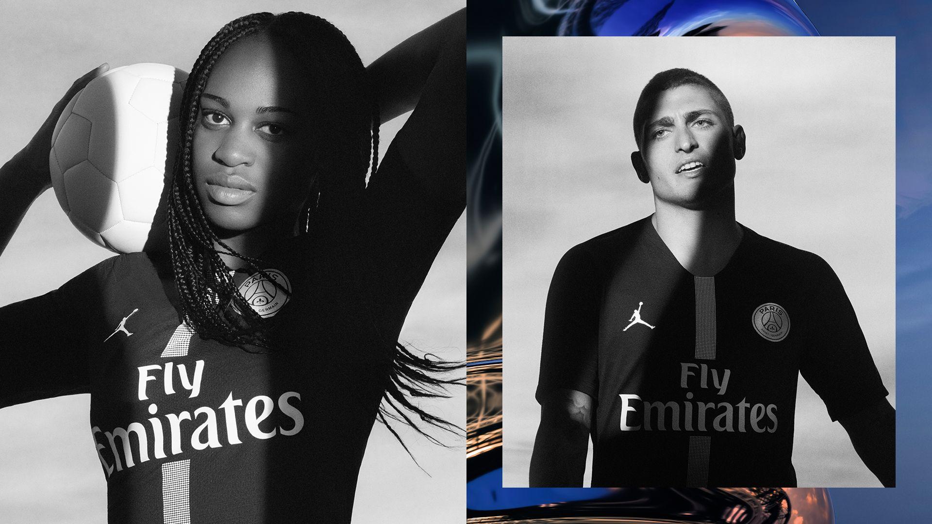 d686407e705 Jordan X Paris Saint-Germain Black Kit. Nike.com GB