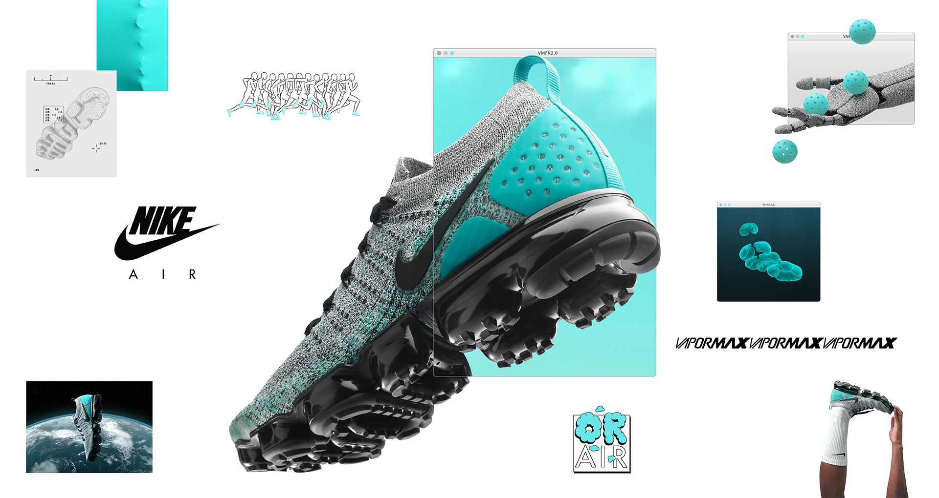 outlet store 24ad1 dadf4 Nike Air Vapormax Flyknit 2 'Dusty Cactus & Hyper Jade ...