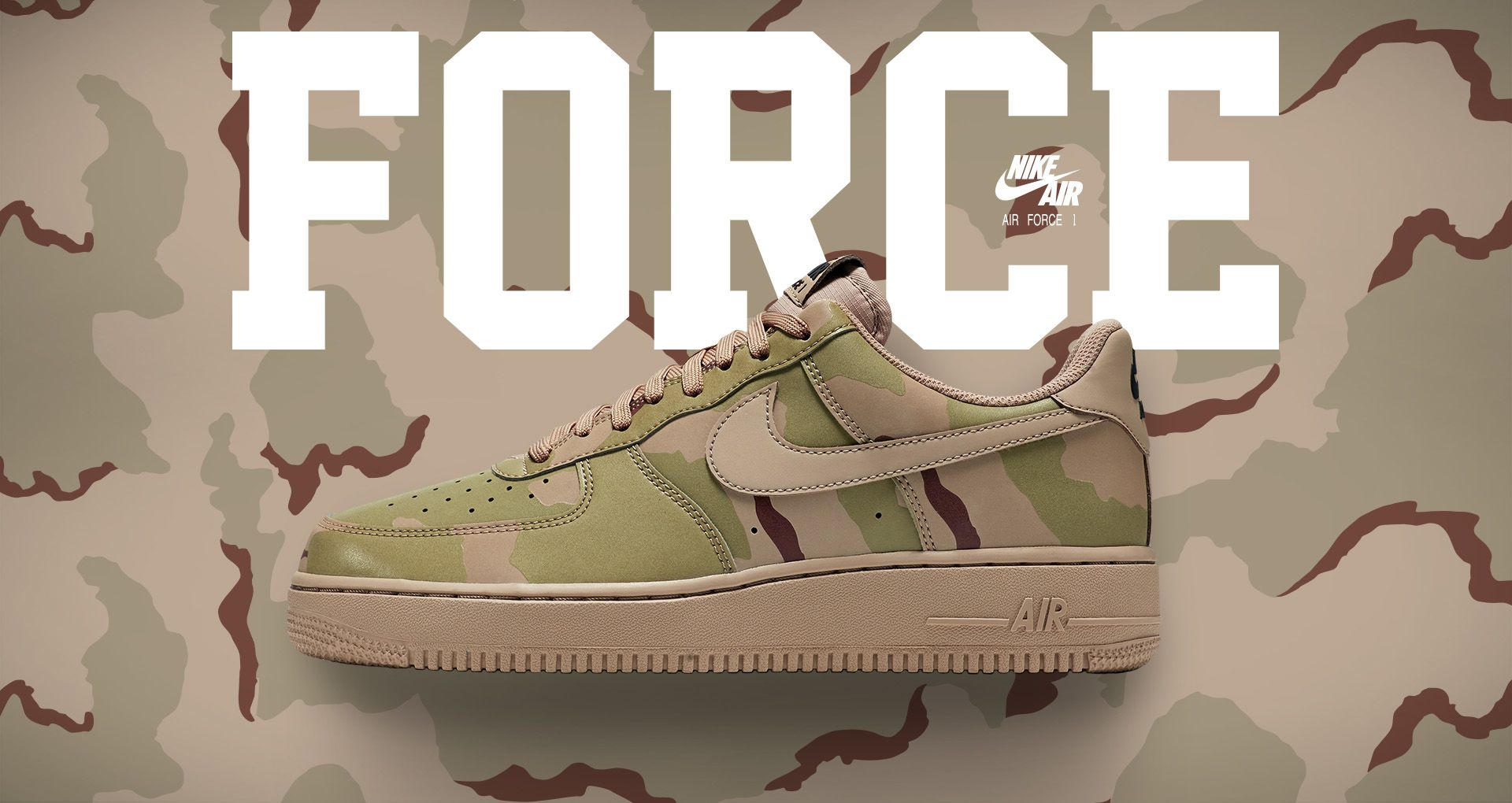 new products best online many styles Nike Air Force 1 Low 07 'Desert Camo Reflective' Release ...