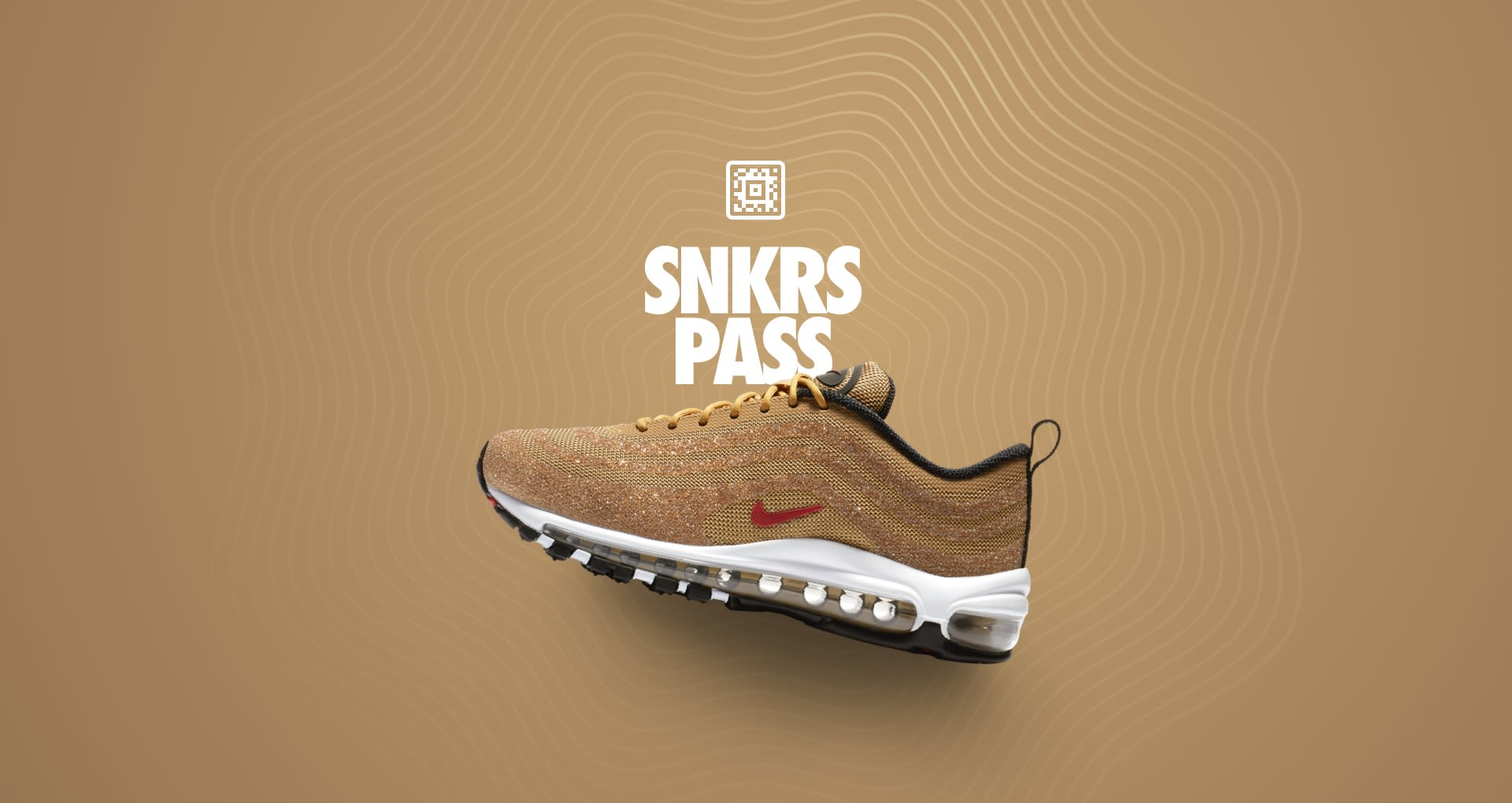 half price first rate exclusive range Women's Air Max 97 'Gold Swarovski® Crystal' SNKRS Pass ...