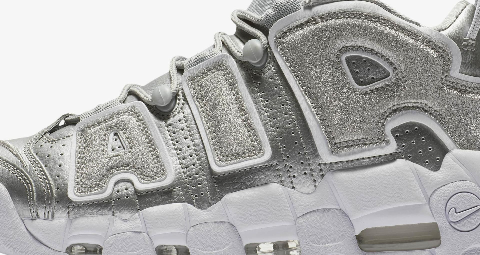 wholesale dealer c9916 b07d0 Women s Nike Air More Uptempo  Metallic Silver   White  Release Date